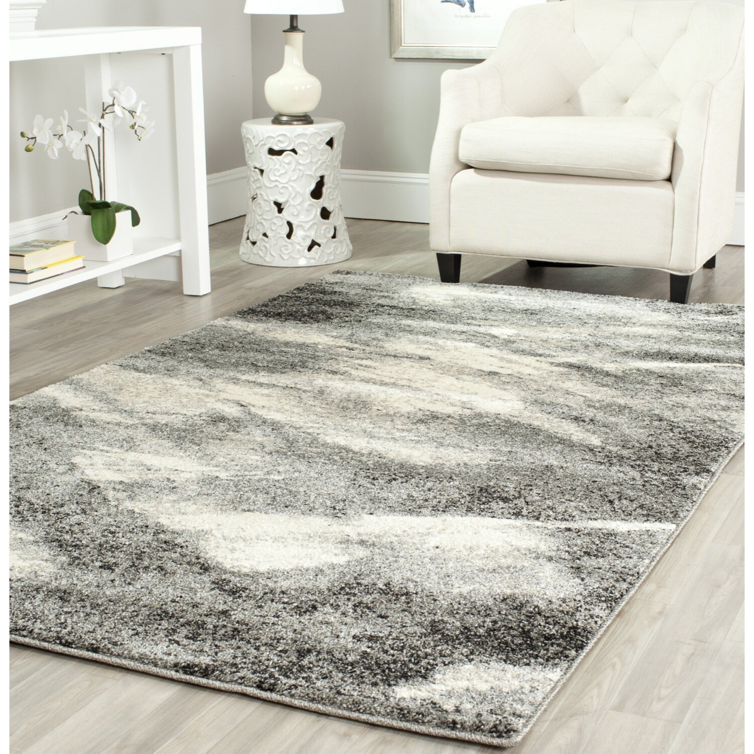 Vulpecula Gray And Ivory Area Rug Amp Reviews Allmodern