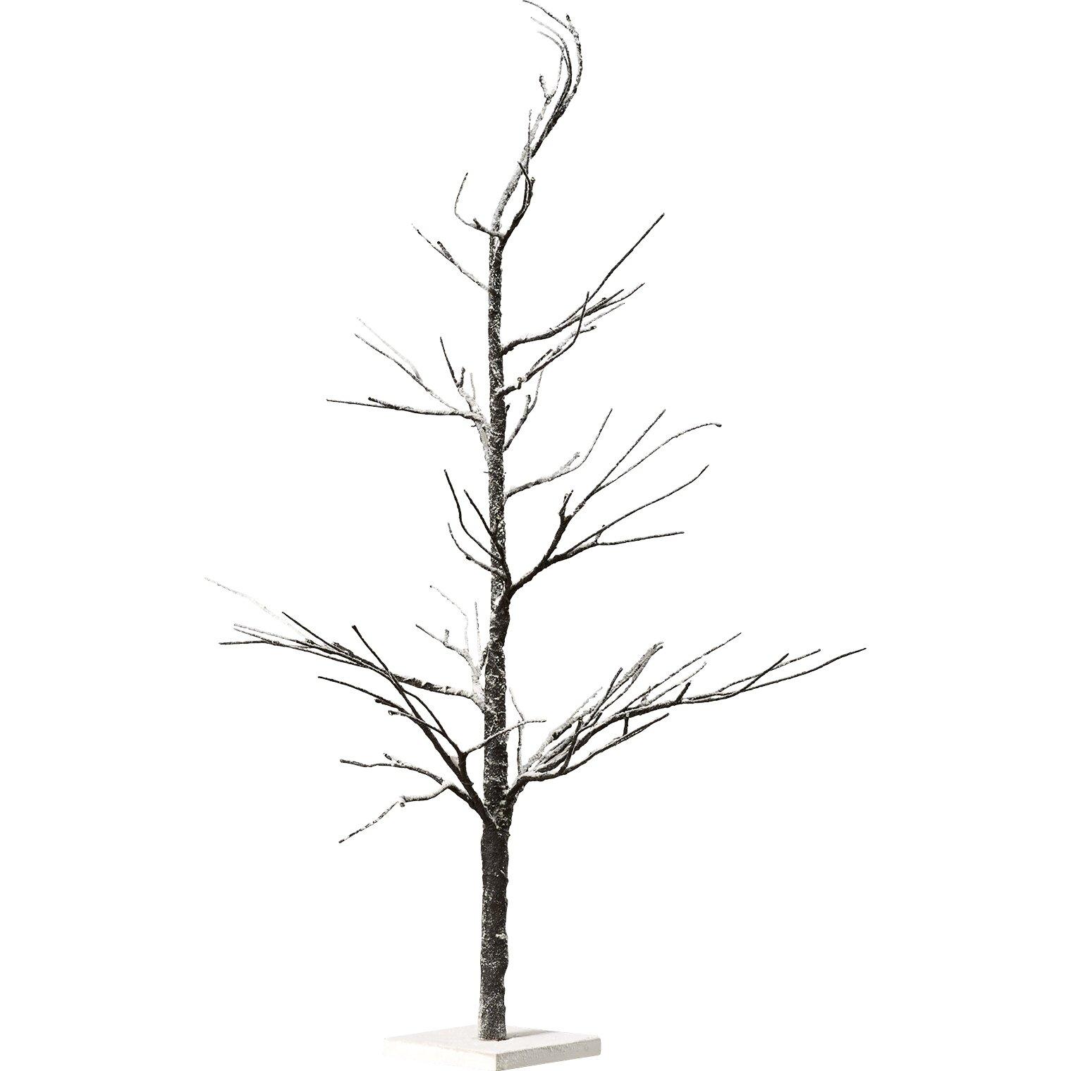 Mercury Rowu0026reg; 4u0027 Snow Twig Artificial Christmas Tree with LED Lights