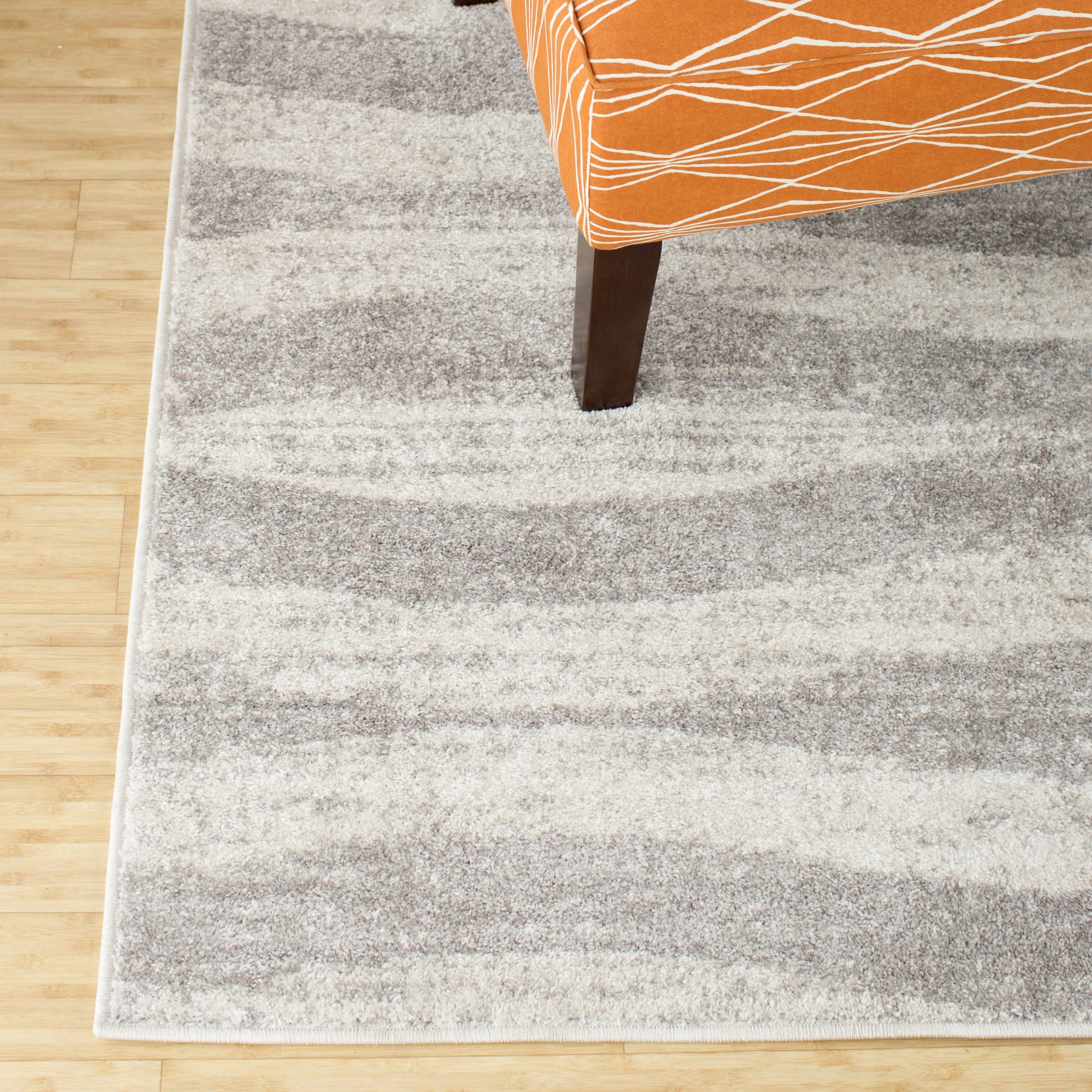 mercury row lada abstract waves gray white area rug reviews wayfair. Black Bedroom Furniture Sets. Home Design Ideas