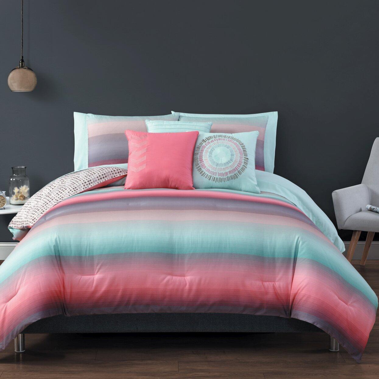 Mercury Row Avans 10 Piece Reversible Bed in a Bag Set