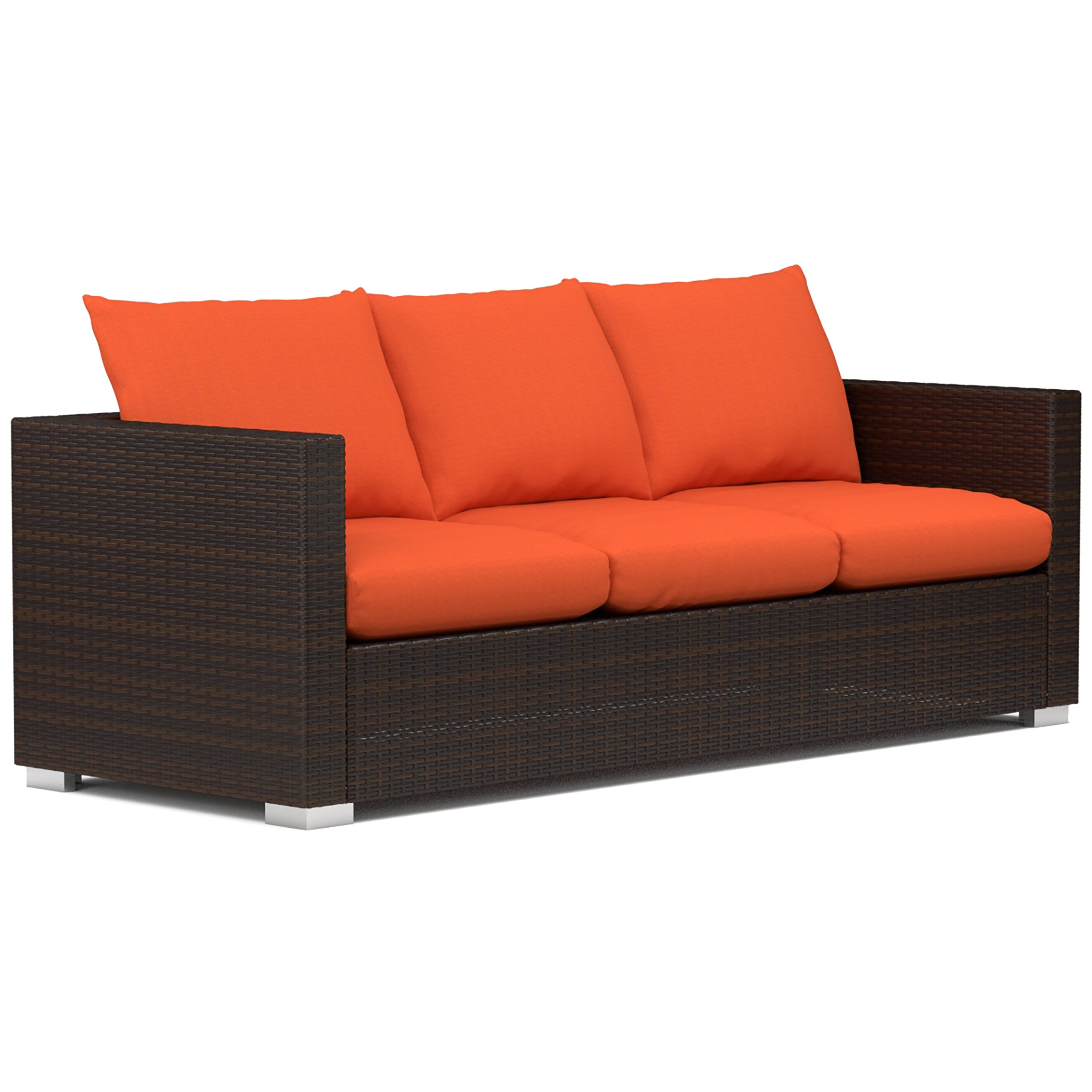 Mercury Row Lachesis Outdoor Sofa with Cushions & Reviews