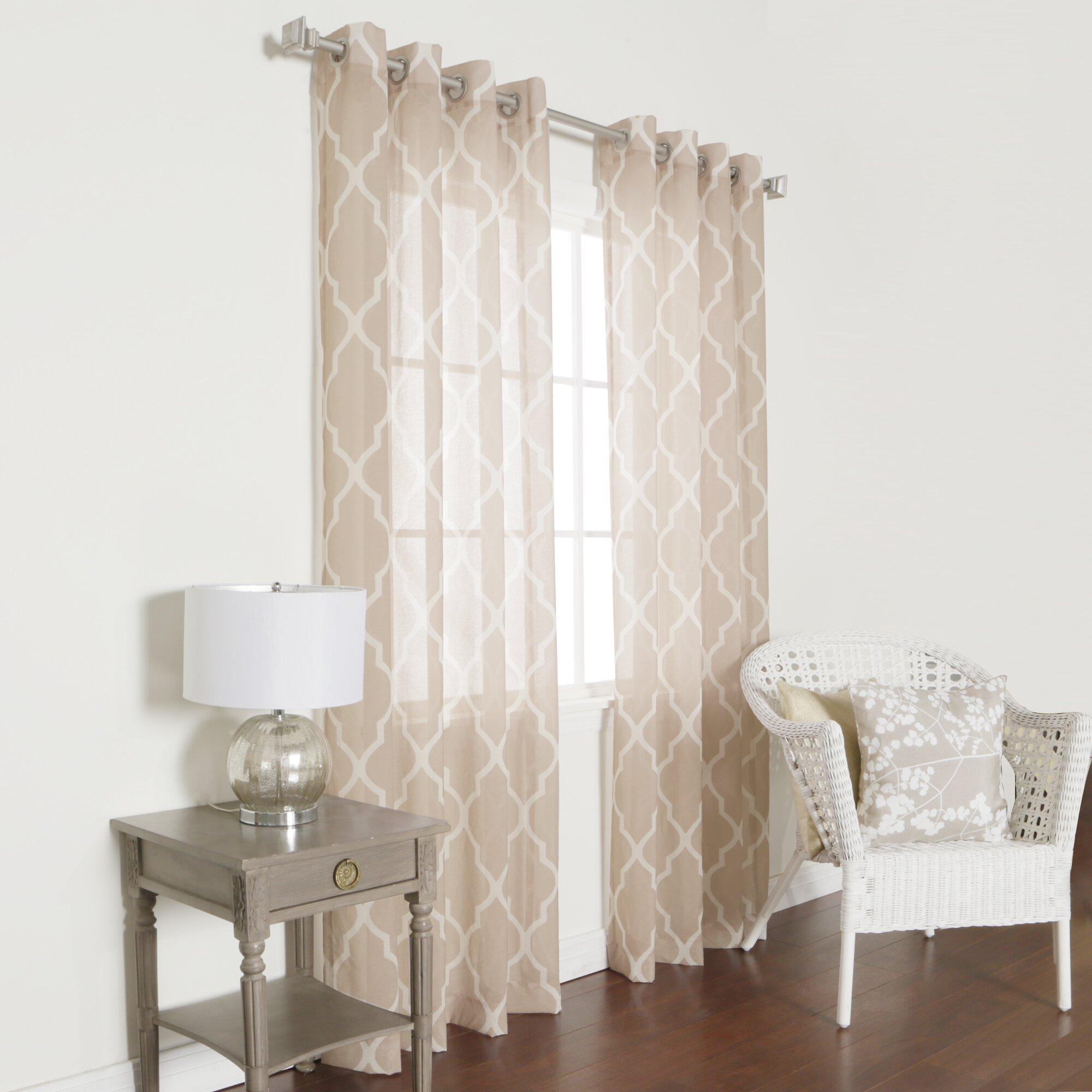 Sheer Cheetah Print Curtains - Best home fashion inc moroccan grommet top sheer curtain panels