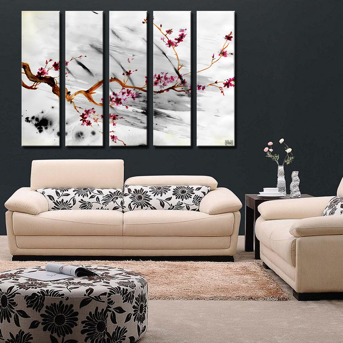Ready2hangart 39 painted petals xii 39 by ready2hangart 5 for Ready set decor reviews