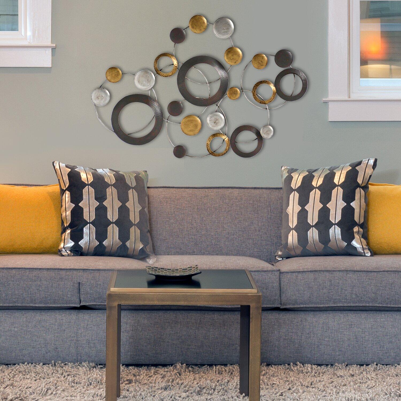 Metallic Home Decor Stratton Home Decor Metallic Circles Wall Dccor Reviews Wayfair