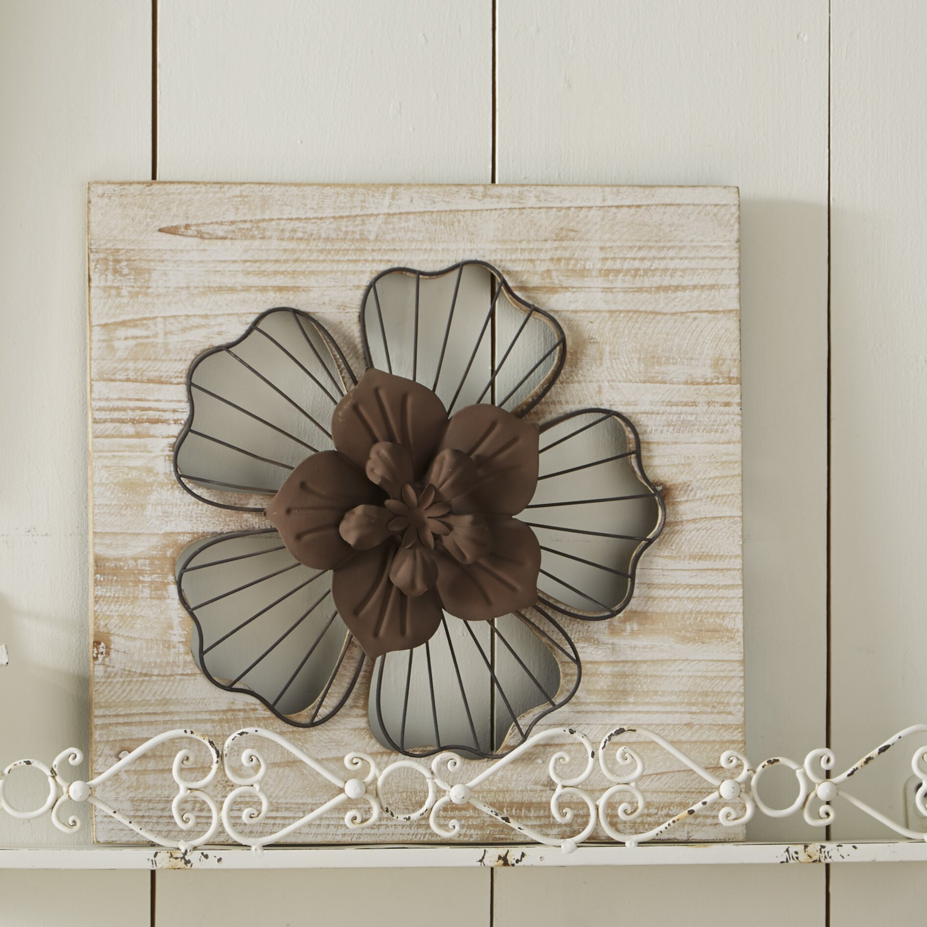 Stratton Home Decor Rustic Flower Wall D Cor Reviews Wayfair