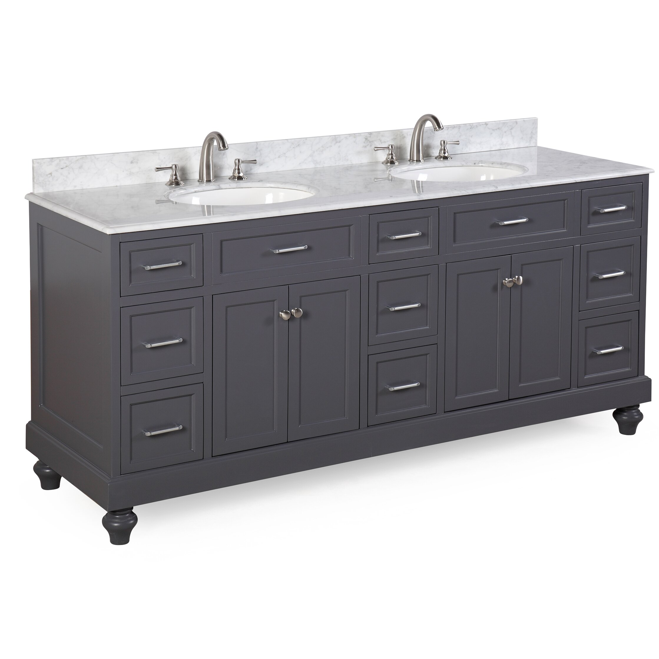 Double bathroom vanity - Kitchen Bath Collection Amelia 72 Quot Double Bathroom Vanity Set
