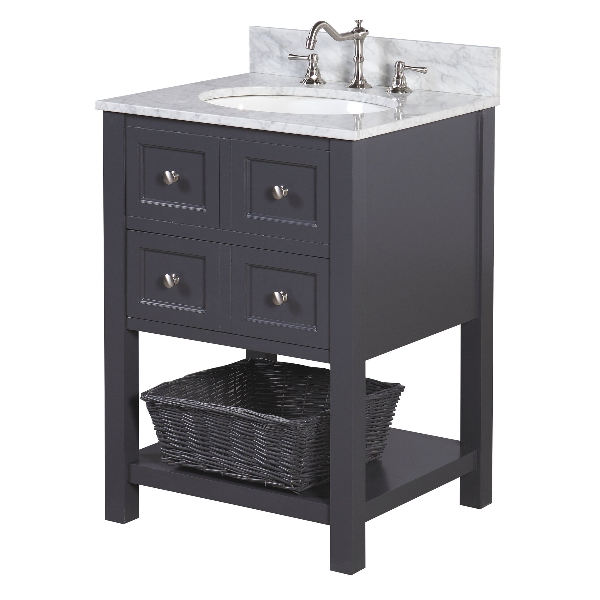 "kbc new yorker 24"" single bathroom vanity set & reviews 