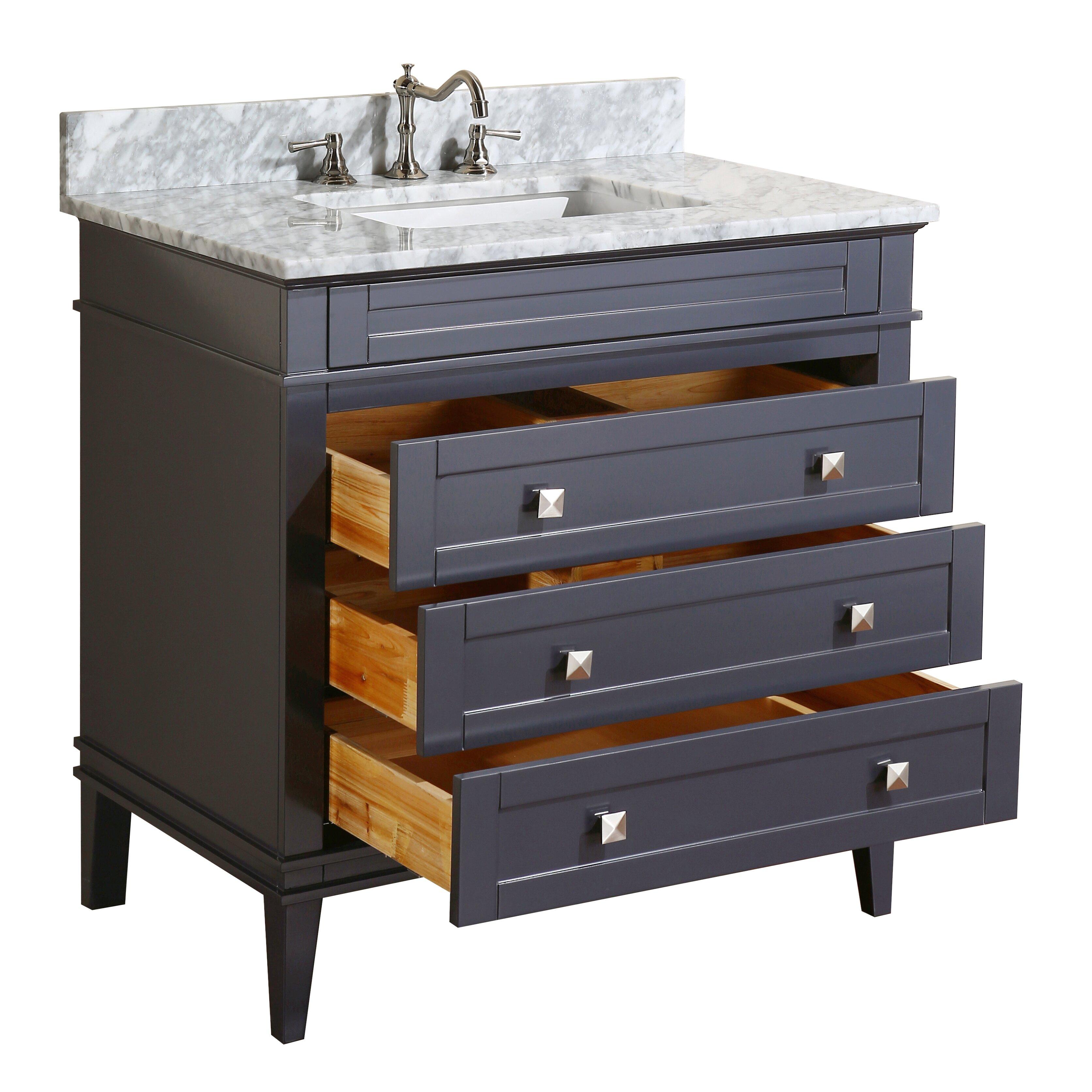 kbc eleanor 36 single bathroom vanity set reviews wayfair