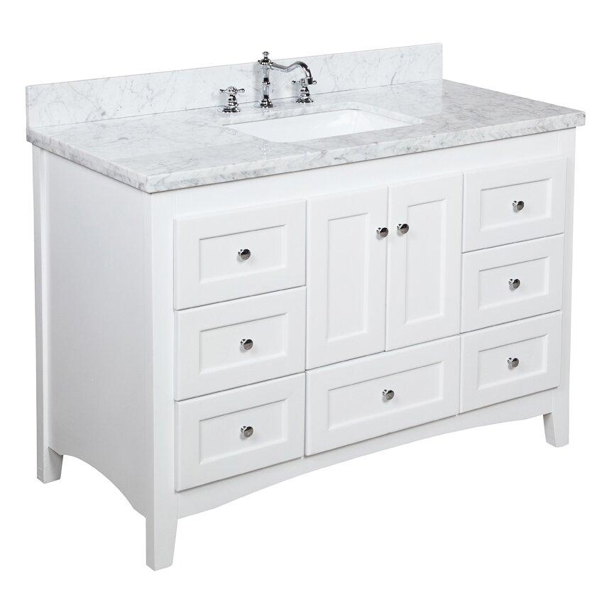 Kitchen Bath Collection Abbey 48 quot Single Bathroom Vanity Set  KBC Abbey  48 Single Bathroom. Wayfair Bathroom