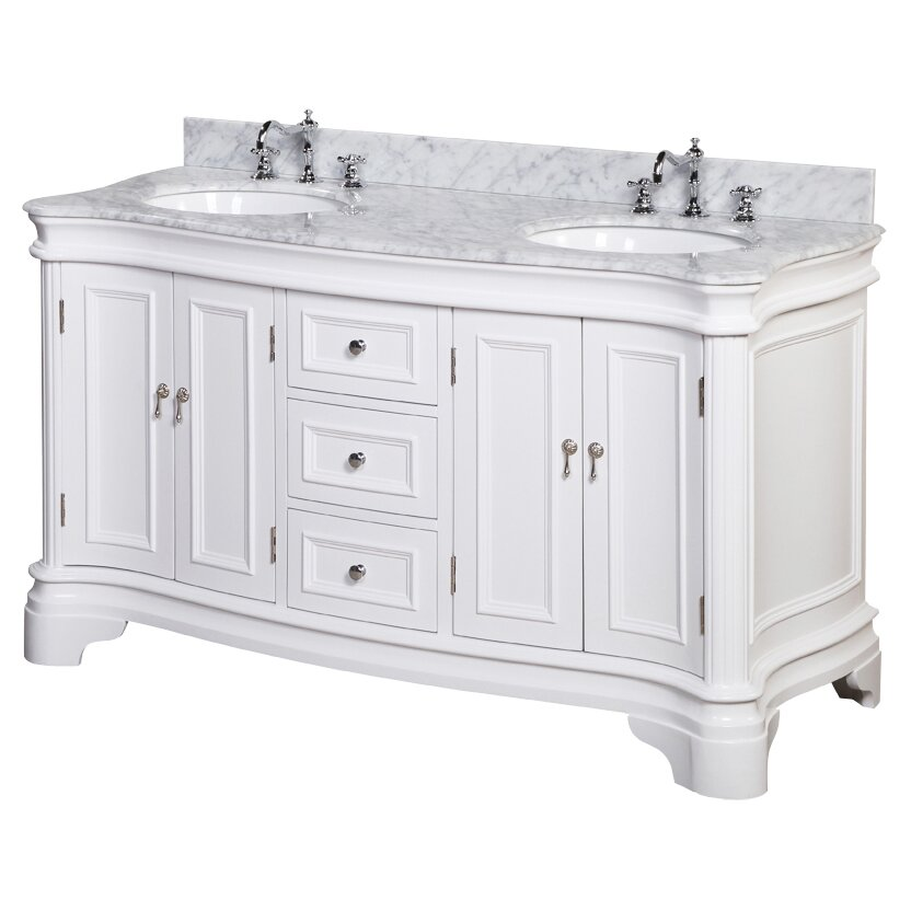 kbc katherine 60 quot double bathroom vanity set amp reviews