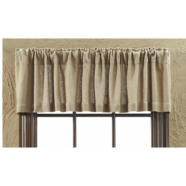 Curtains Ideas air curtain brands : VHC Brands Burlap Natural Curtain Valance & Reviews | Wayfair