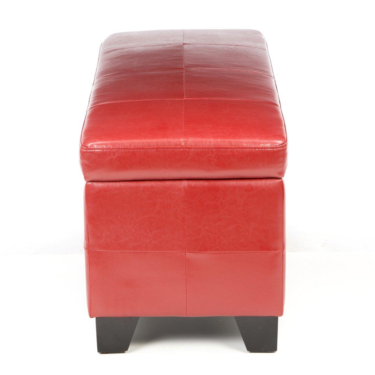 Red Bedroom Bench Red Barrel Studio West Seattle Upholstered Storage Bedroom Bench