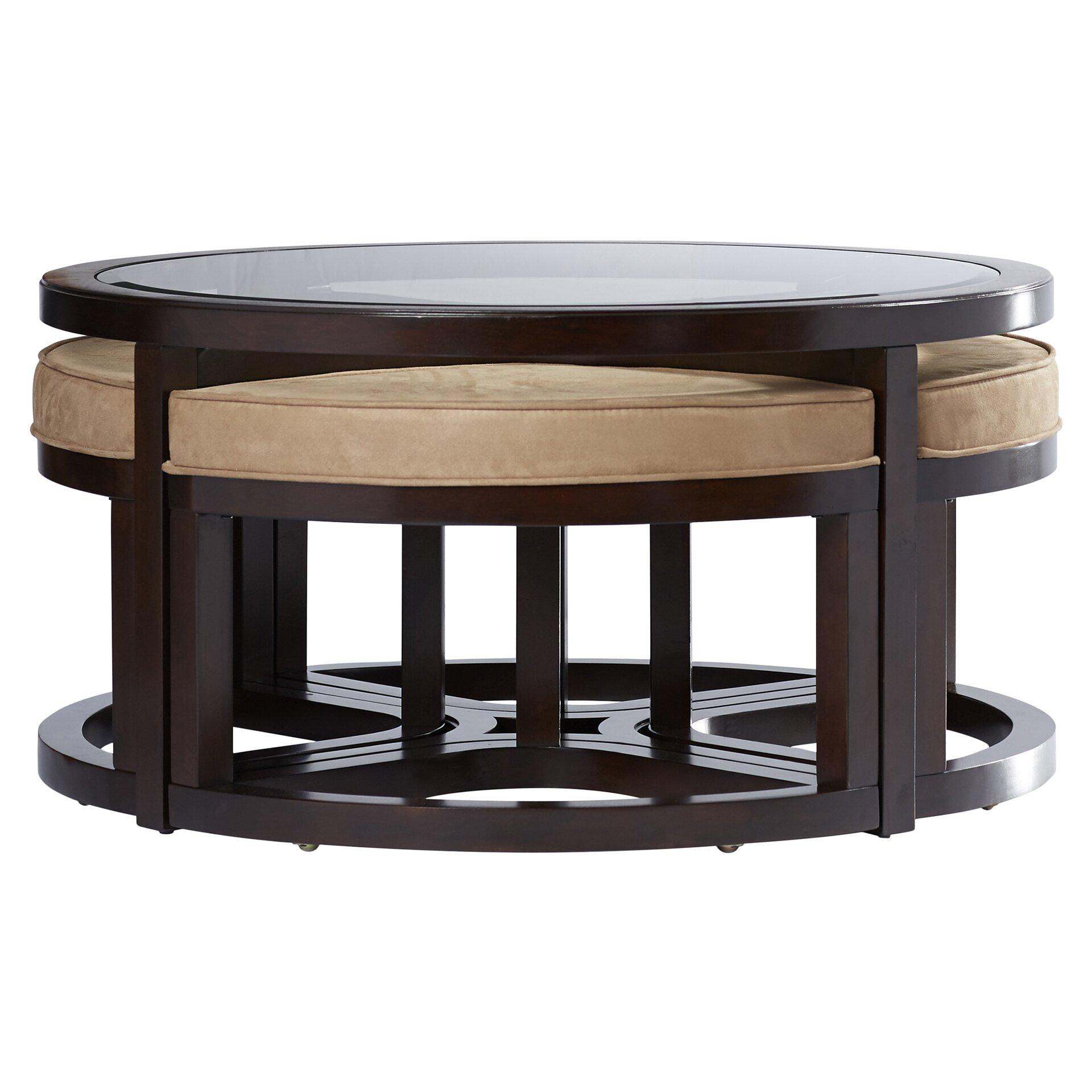 Coffee Table Stool Red Barrel Studio Sun King Coffee Table And Stools Reviews Wayfair