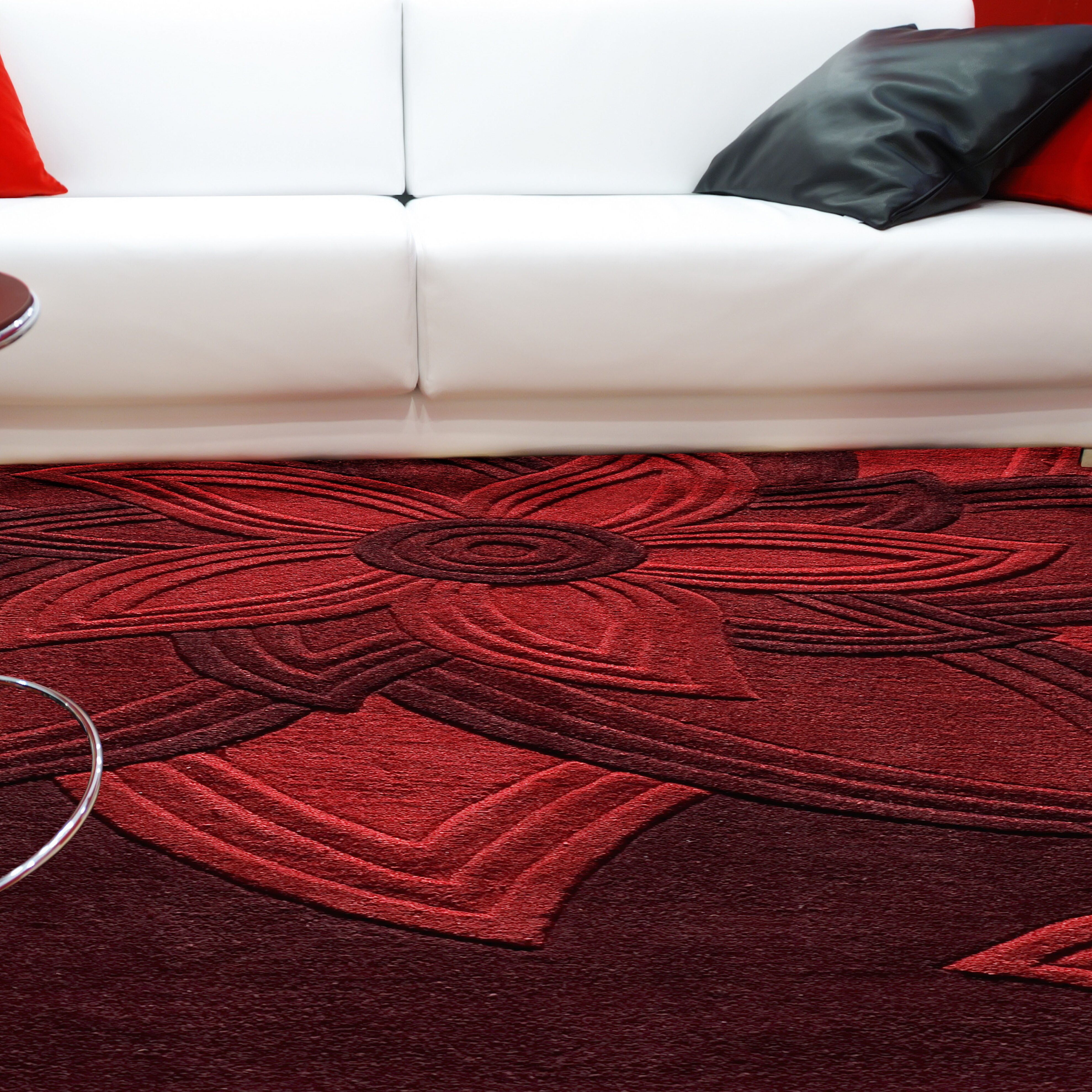 Red Living Room Rug Red Barrel Studio Robin Hand Tufted Red Area Rug Reviews Wayfair
