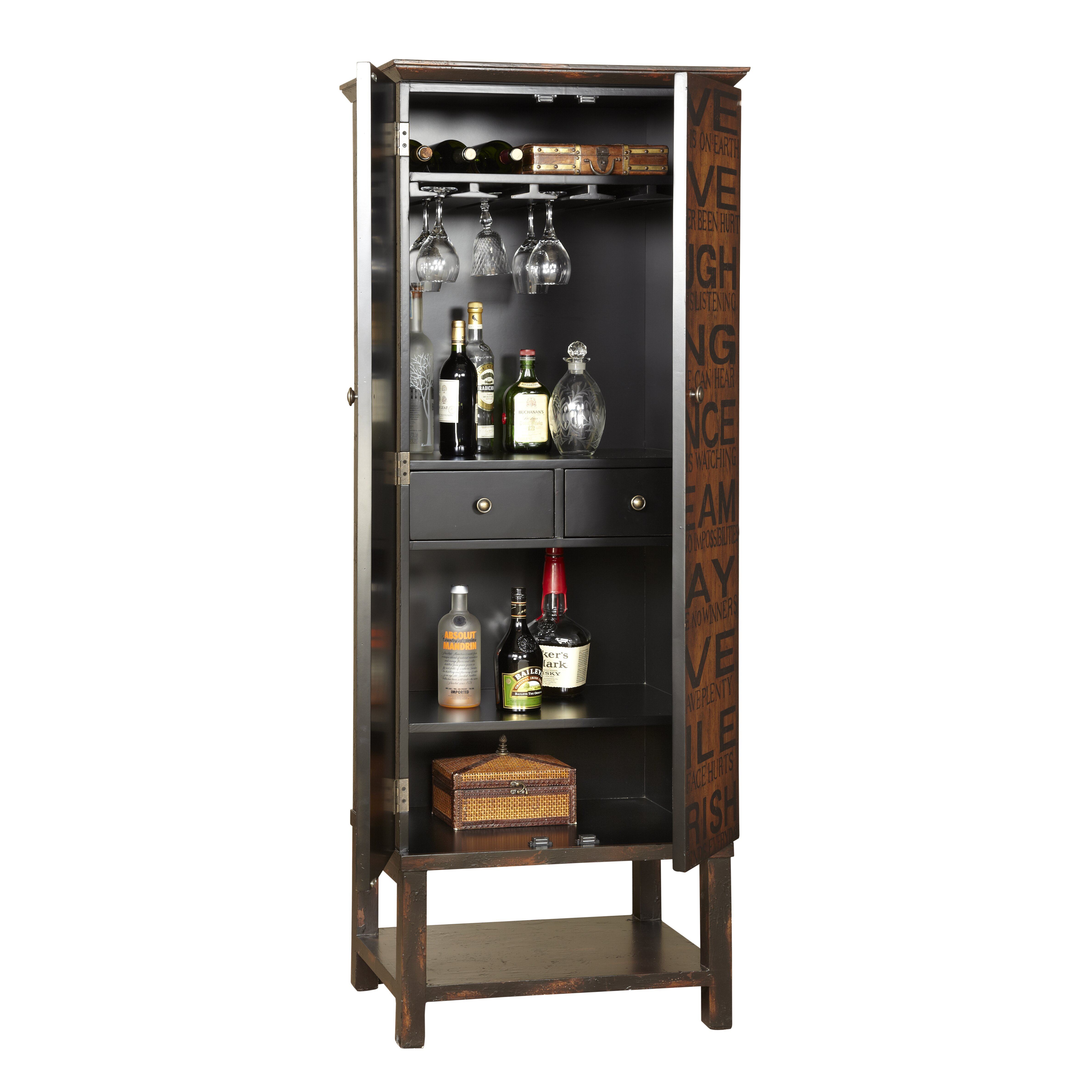 Diamond Vibe Cabinets Red Barrel Studio Firefly Hollow Bar Cabinet With Wine Storage