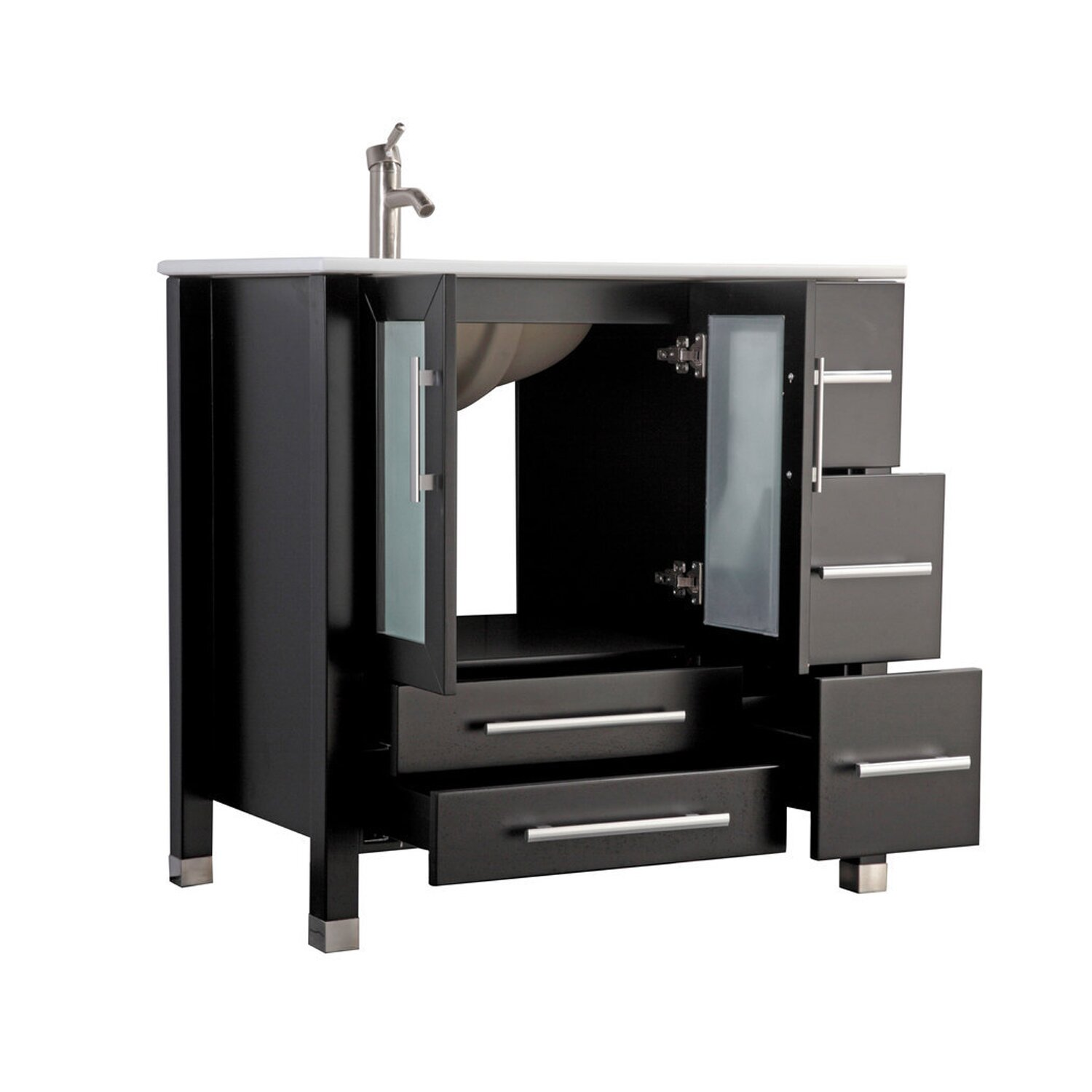 mtd vanities sweden 36 single sink bathroom vanity set with mirror