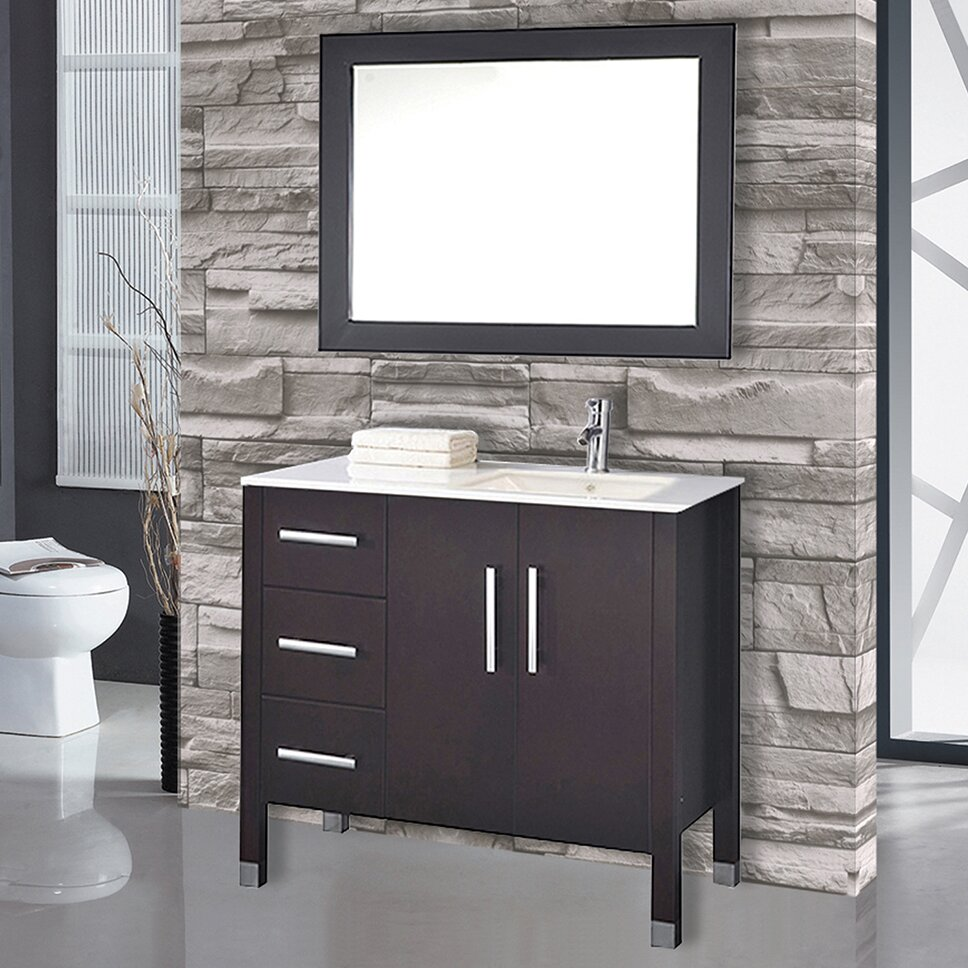 mtd vanities malta ampquot single sink bathroom vanity set with mirror - Mirrored Bathroom Vanity