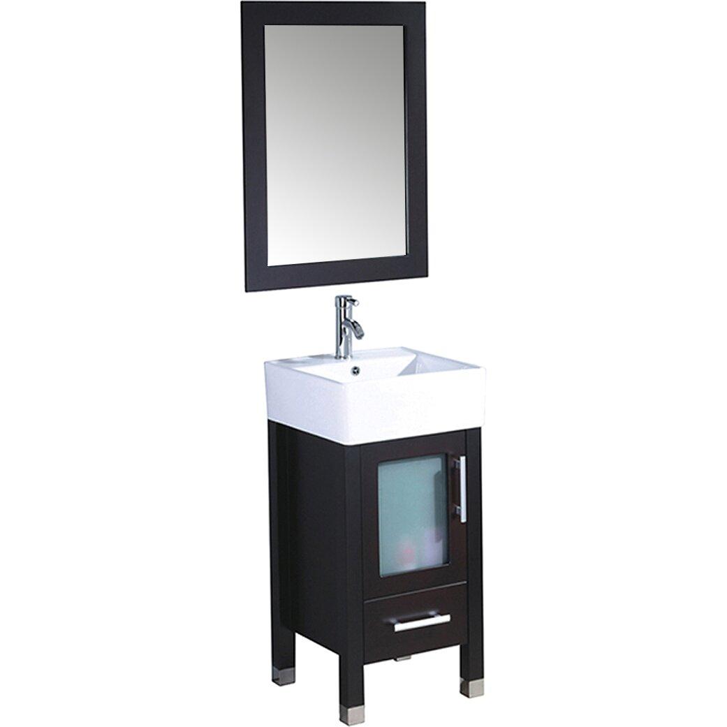 MTD Vanities Malta 18 quot  Single Sink Bathroom Vanity Set with Mirror. MTDVanities Malta 18  Single Sink Bathroom Vanity Set with Mirror