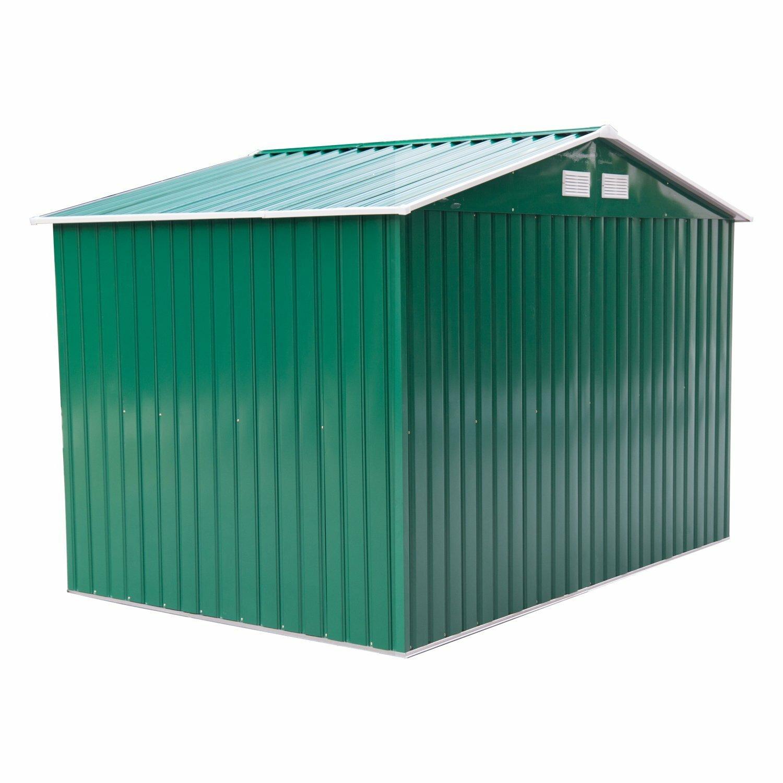 Outsunny 9 x 6 metal storage shed wayfair co uk