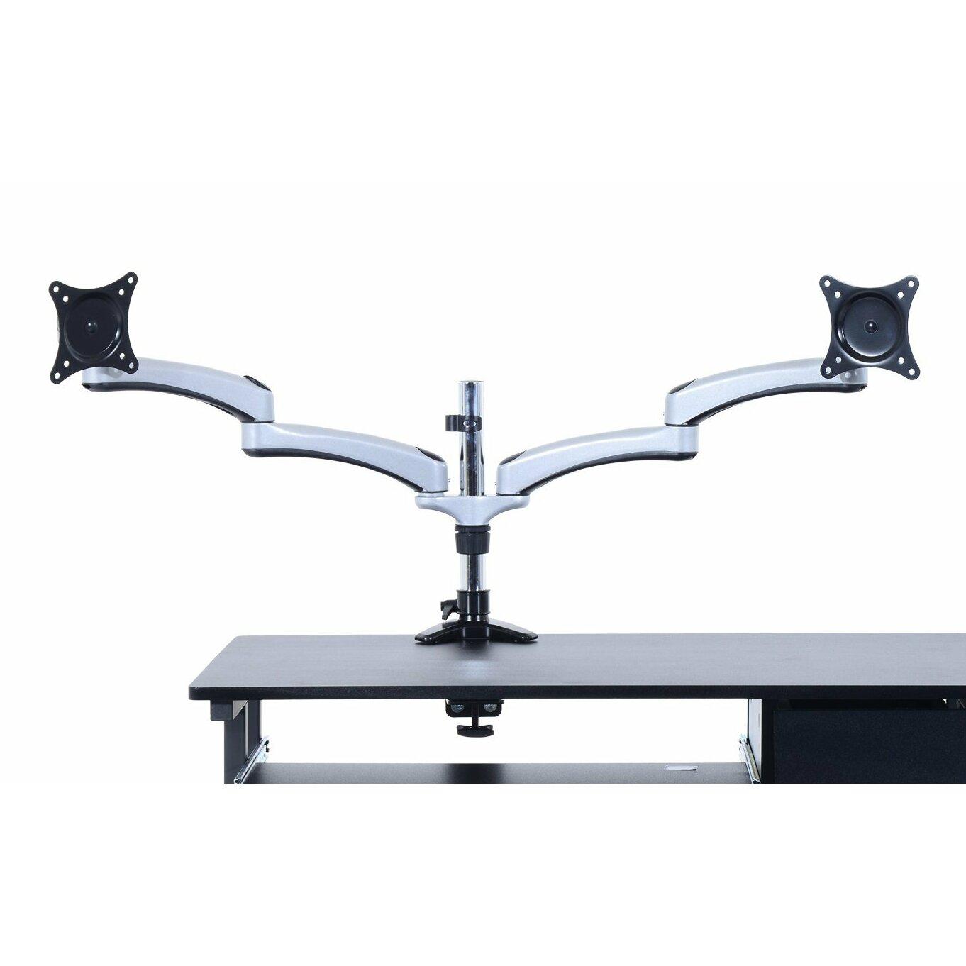 Homcom Dual Twin LEDLCDTV Tilting Arm Table Mount  : Homcom Dual Twin LED LCD TV Tilting Arm Table Mount Bracket Computer Monitor Stand for 15 27 Flat Panel Screens from www.wayfair.co.uk size 1362 x 1362 jpeg 100kB