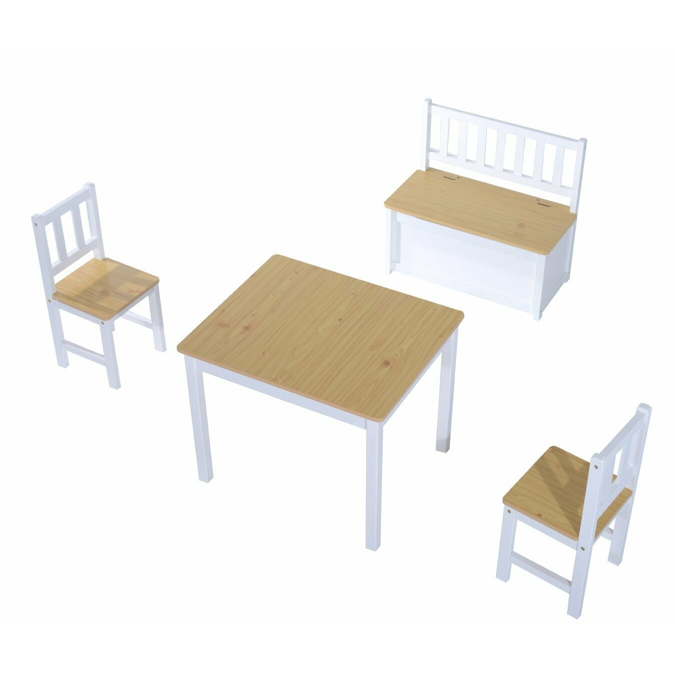 Hom Children s 4 Piece Table and Chair Set