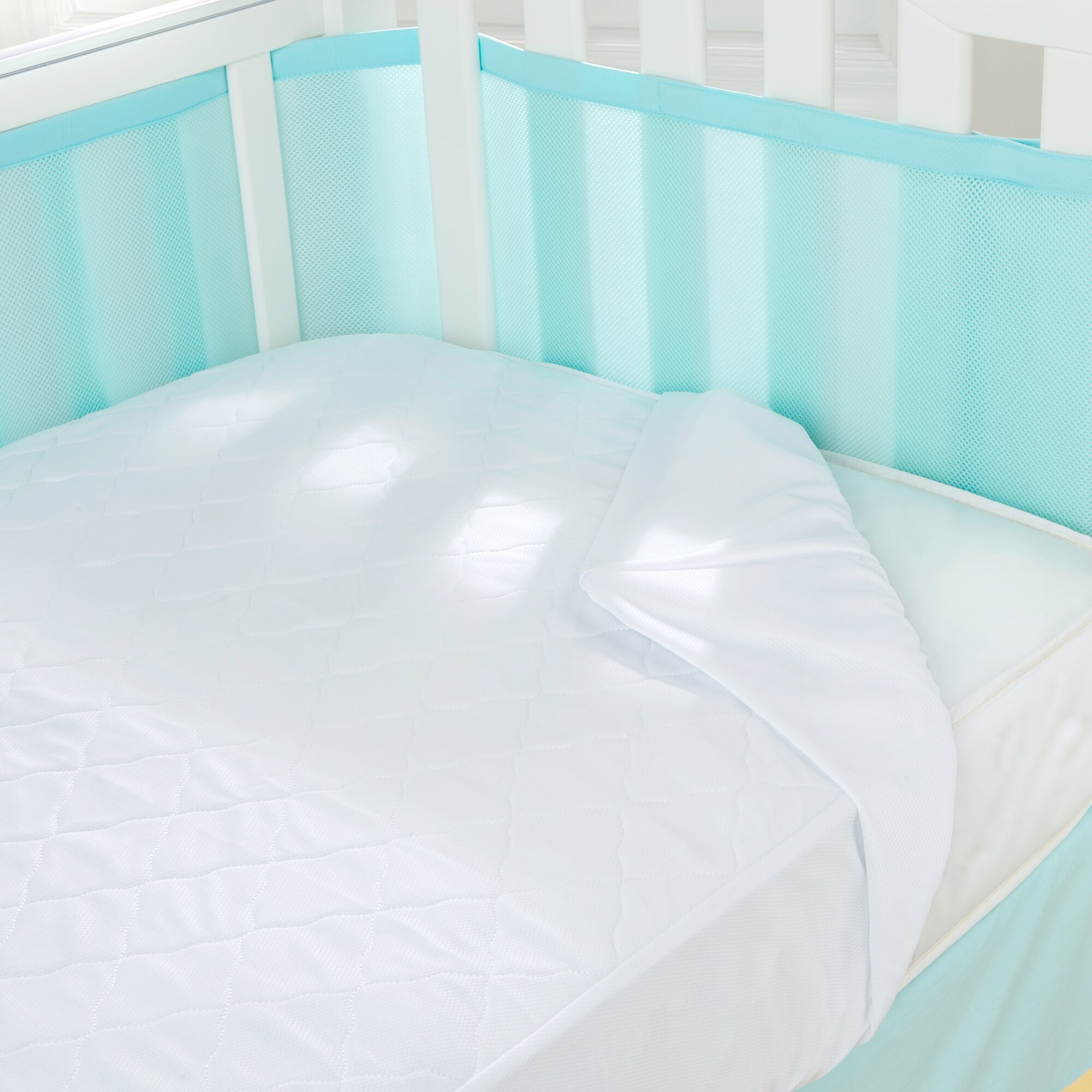 Best baby crib mattress 2013 - Breathablebaby Air Mesh Waterproof Crib Mattress Pad