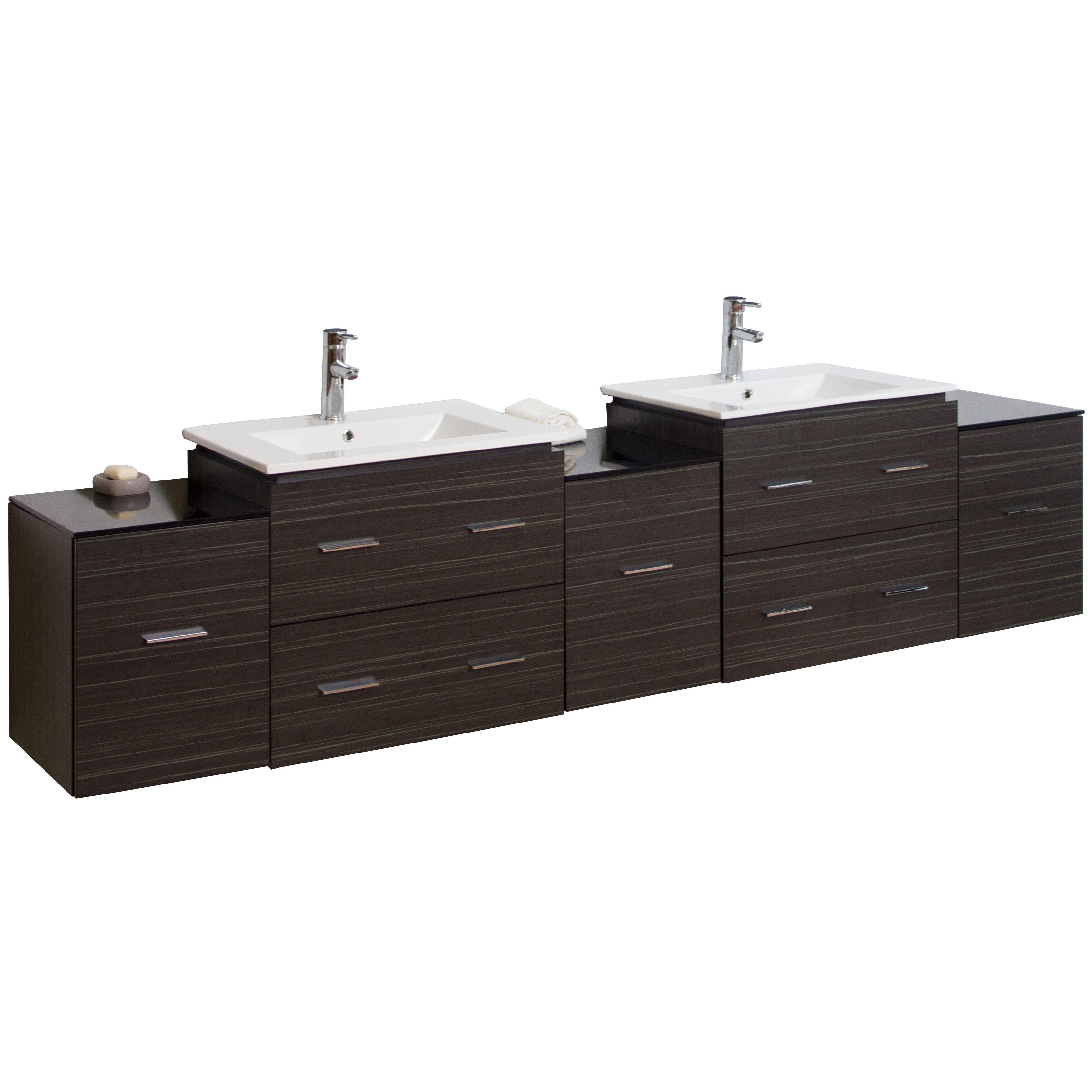 90 Bathroom Vanity American Imaginations 90 Double Modern Wall Mount Bathroom Vanity