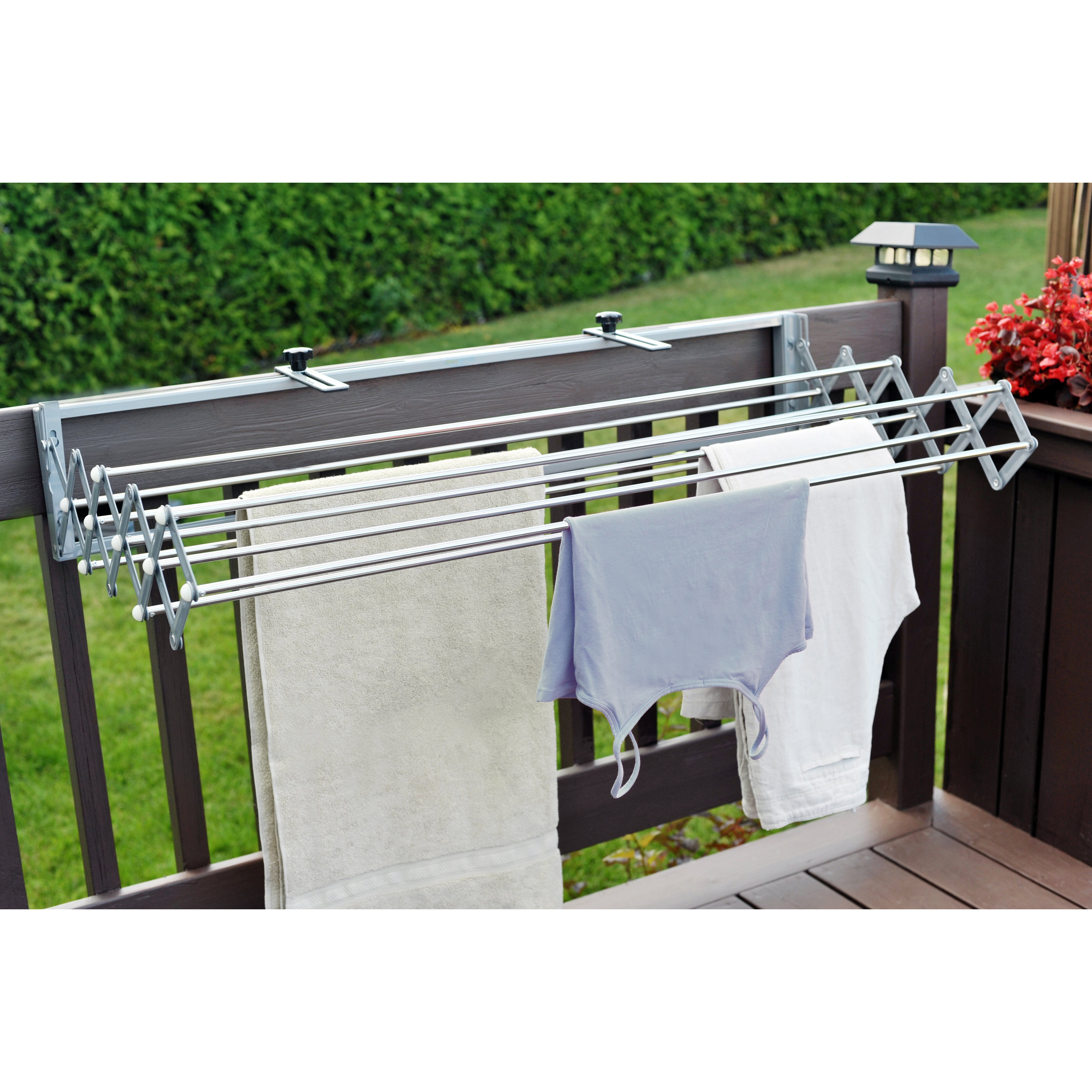 xcentrik smart dryer telescopic clothes drying rack reviews wayfair. Black Bedroom Furniture Sets. Home Design Ideas
