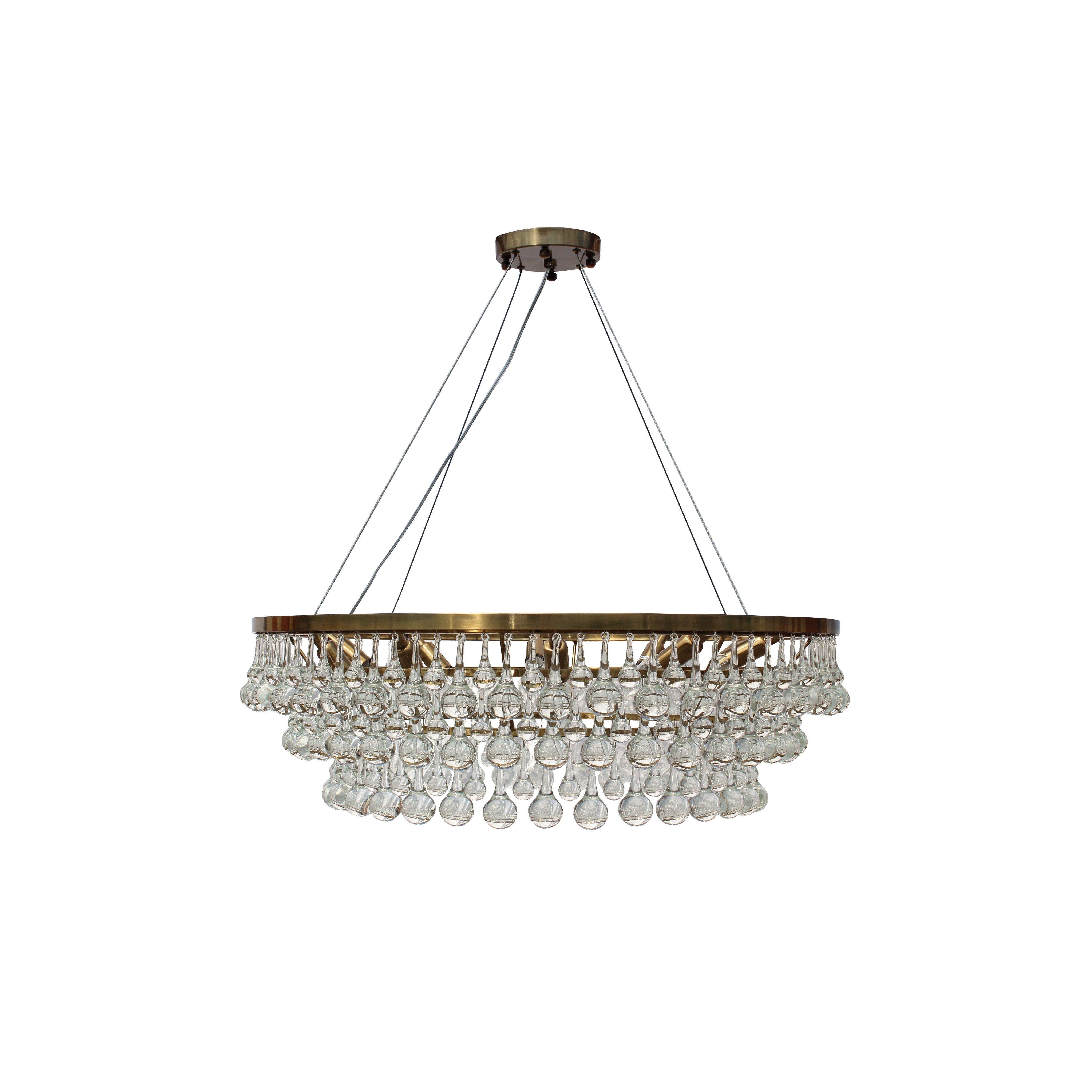 Pottery barn celeste chandelier - Lightupmyhome Celeste 10 Light Crystal Chandelier Reviews Wayfair