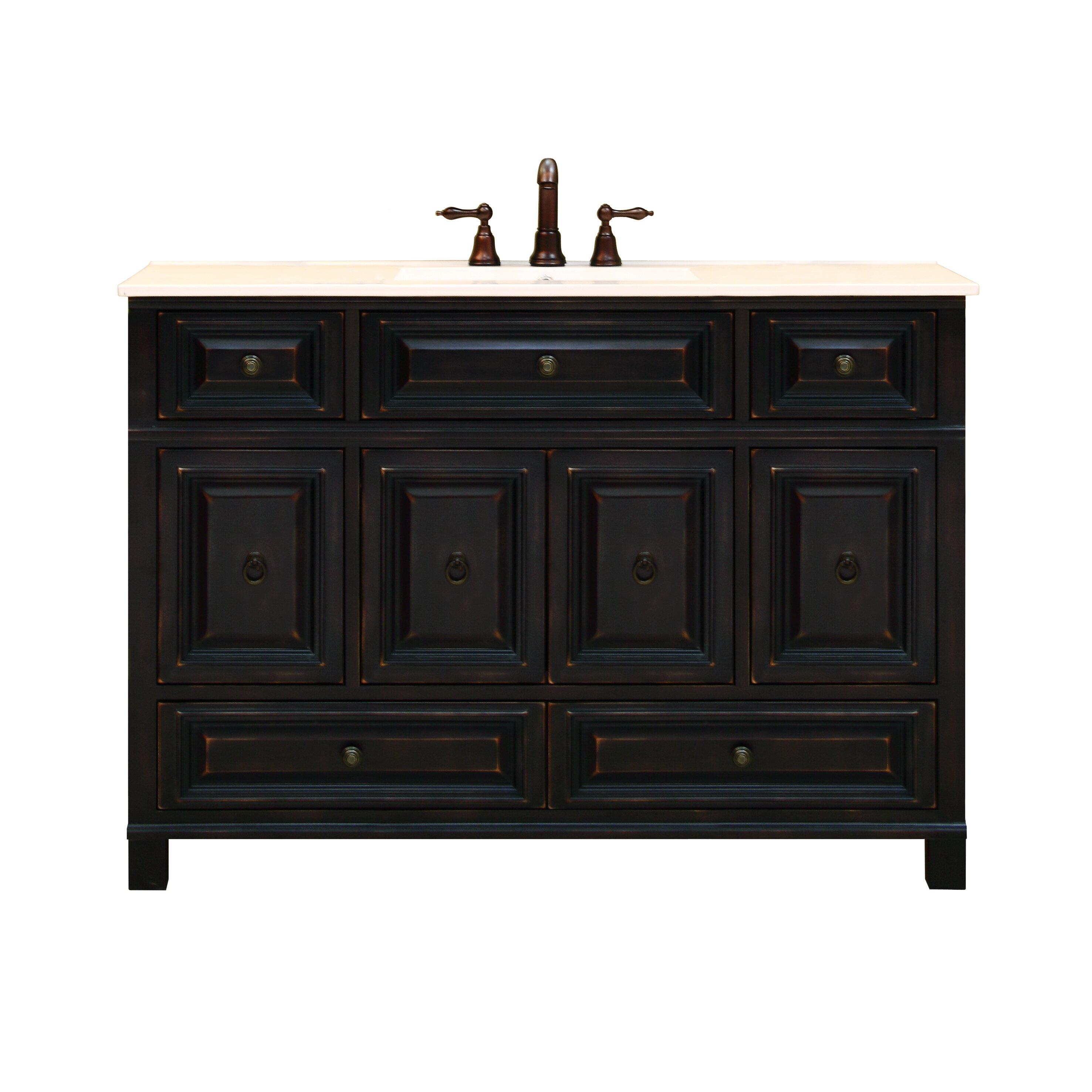 Sunnywood Kitchen Cabinets Sunny Wood Barton Hill 48 Bathroom Vanity Base Wayfair