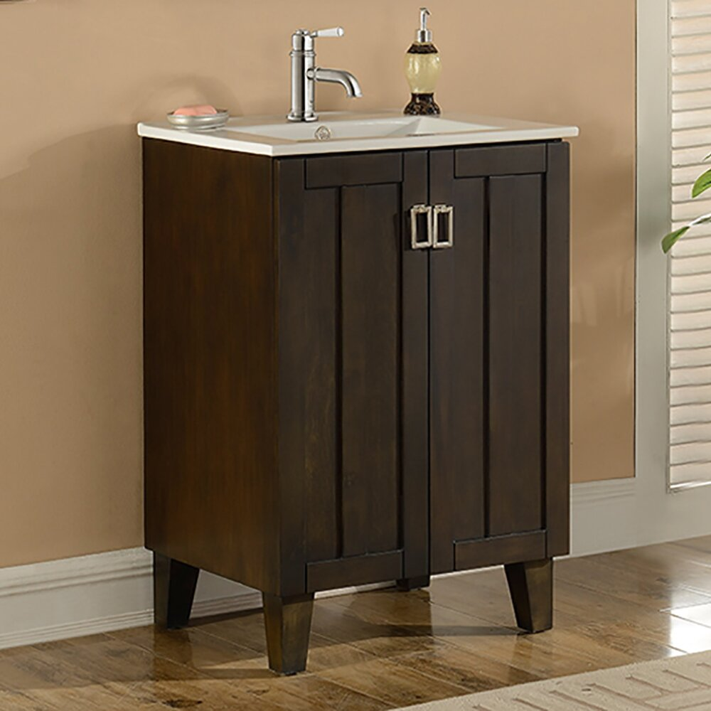 Infurniture in 32 series 24 single sink bathroom vanity set reviews wayfair Bathroom sink and vanity sets