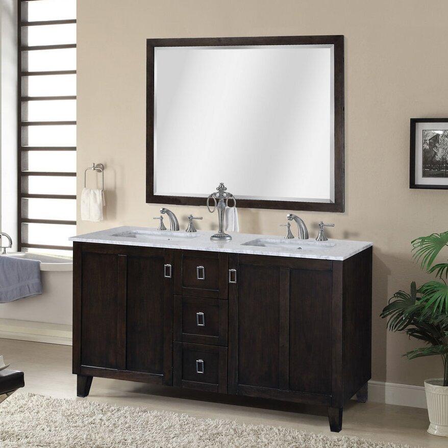 """infurniture in 32 series 60"""" double sink bathroom vanity set"""