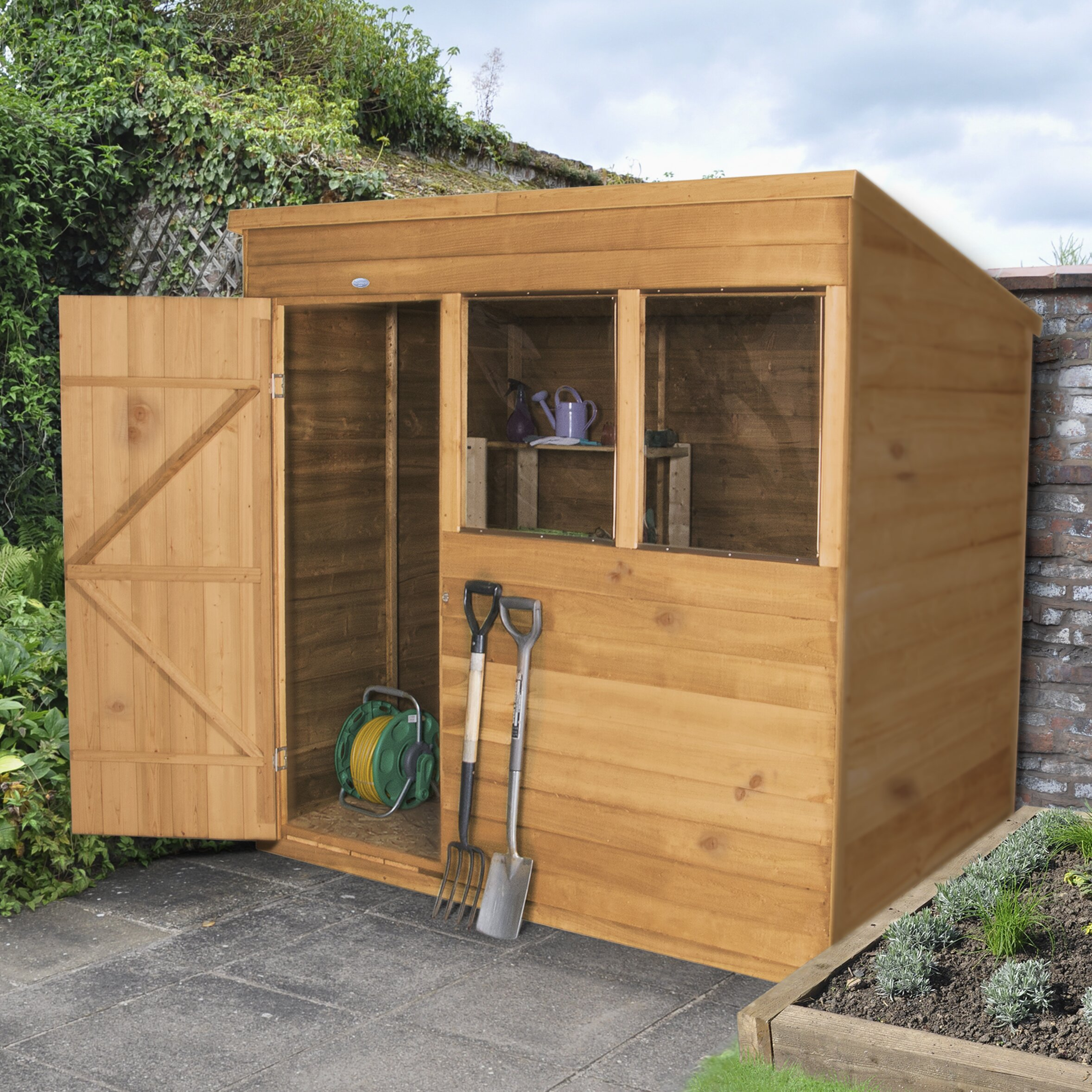 Forest garden 7 x 5 wooden storage shed reviews for Garden shed 7 x 5