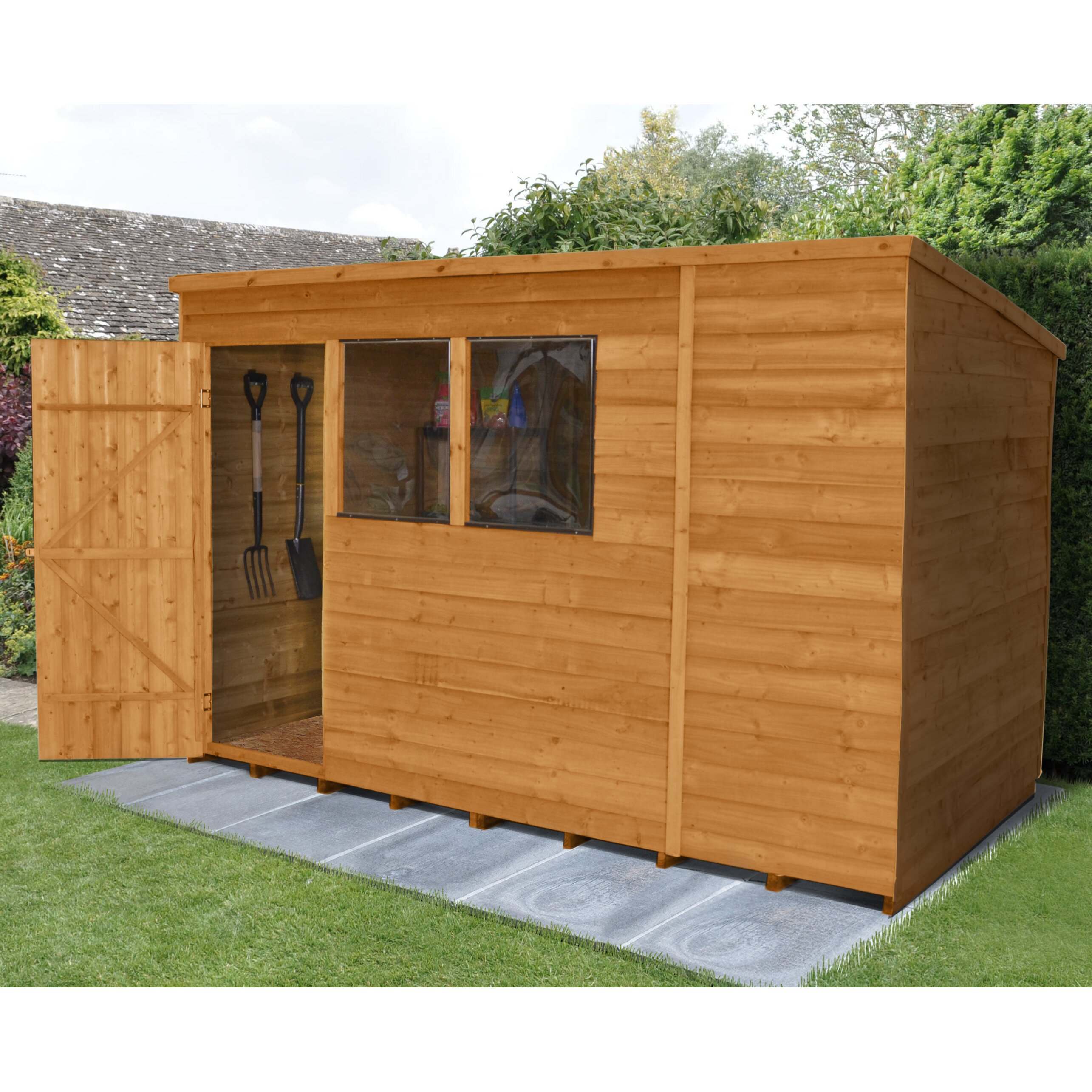 Forest Garden 10 x 6 Wooden Storage Shed & Reviews ...