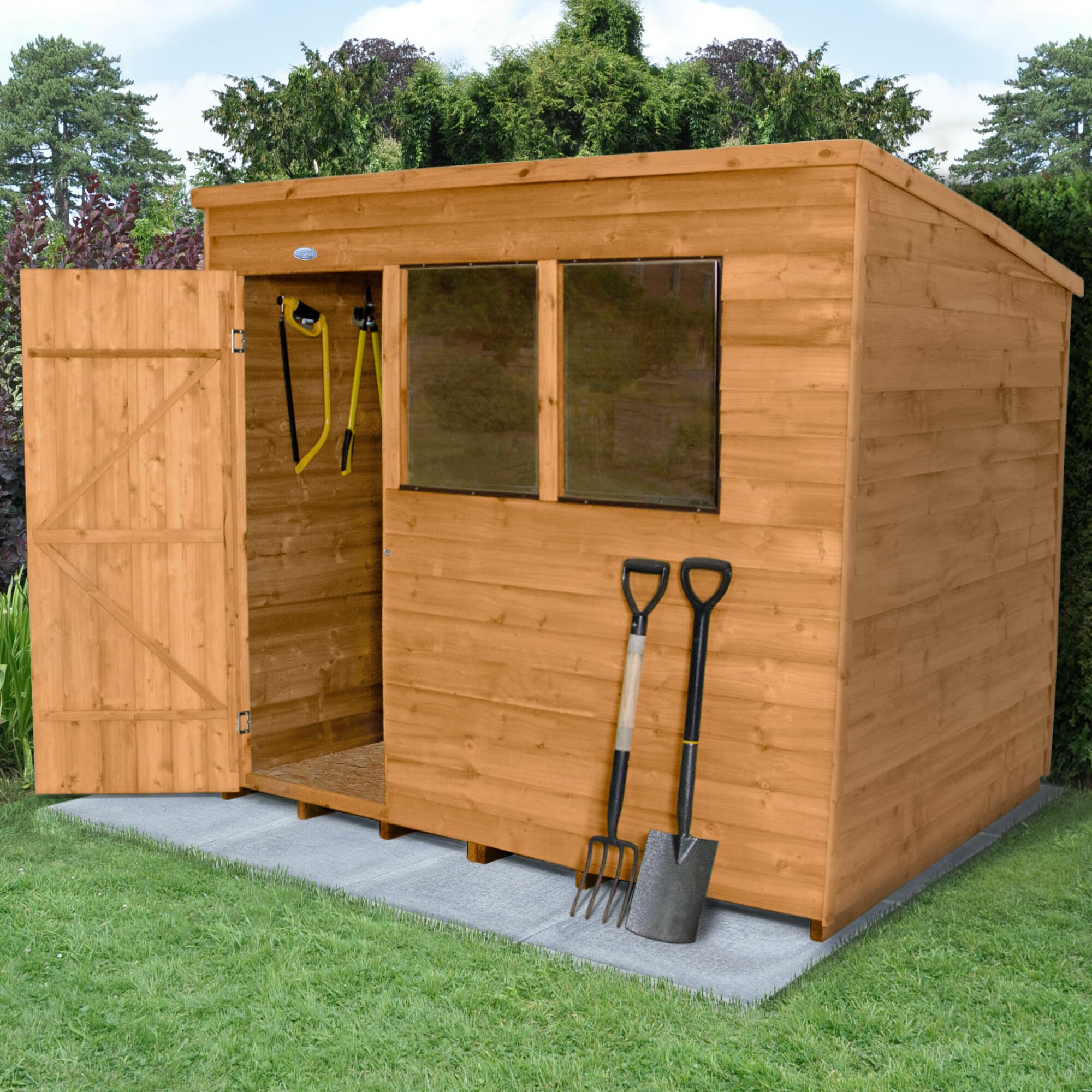 Forest Garden 8 X 6 Wooden Storage Shed & Reviews