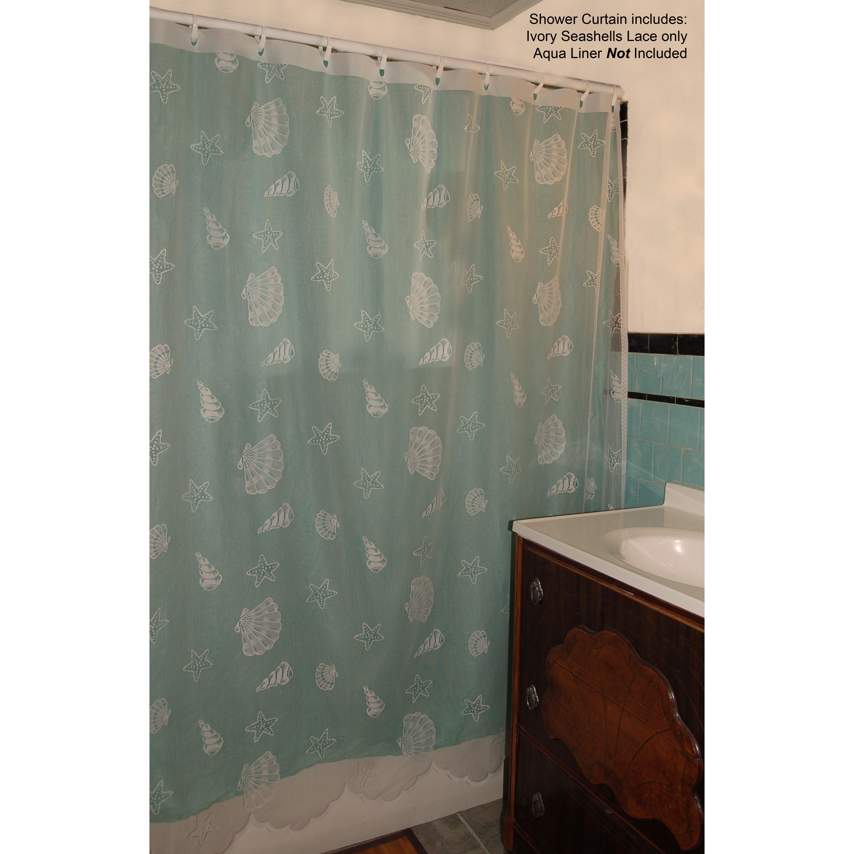 curtain chic seashell lace shower curtain reviews wayfair