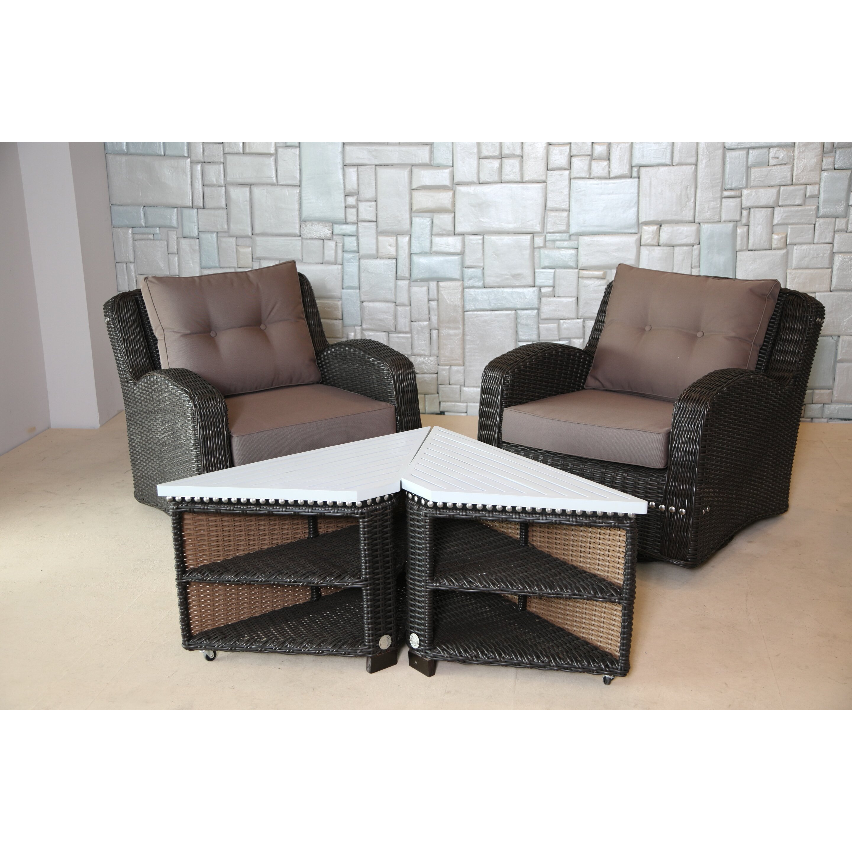 Cane chairs with cushions - Wicked Wicker Furniture Mishka Wicker Swivel Club Chair With Cushion