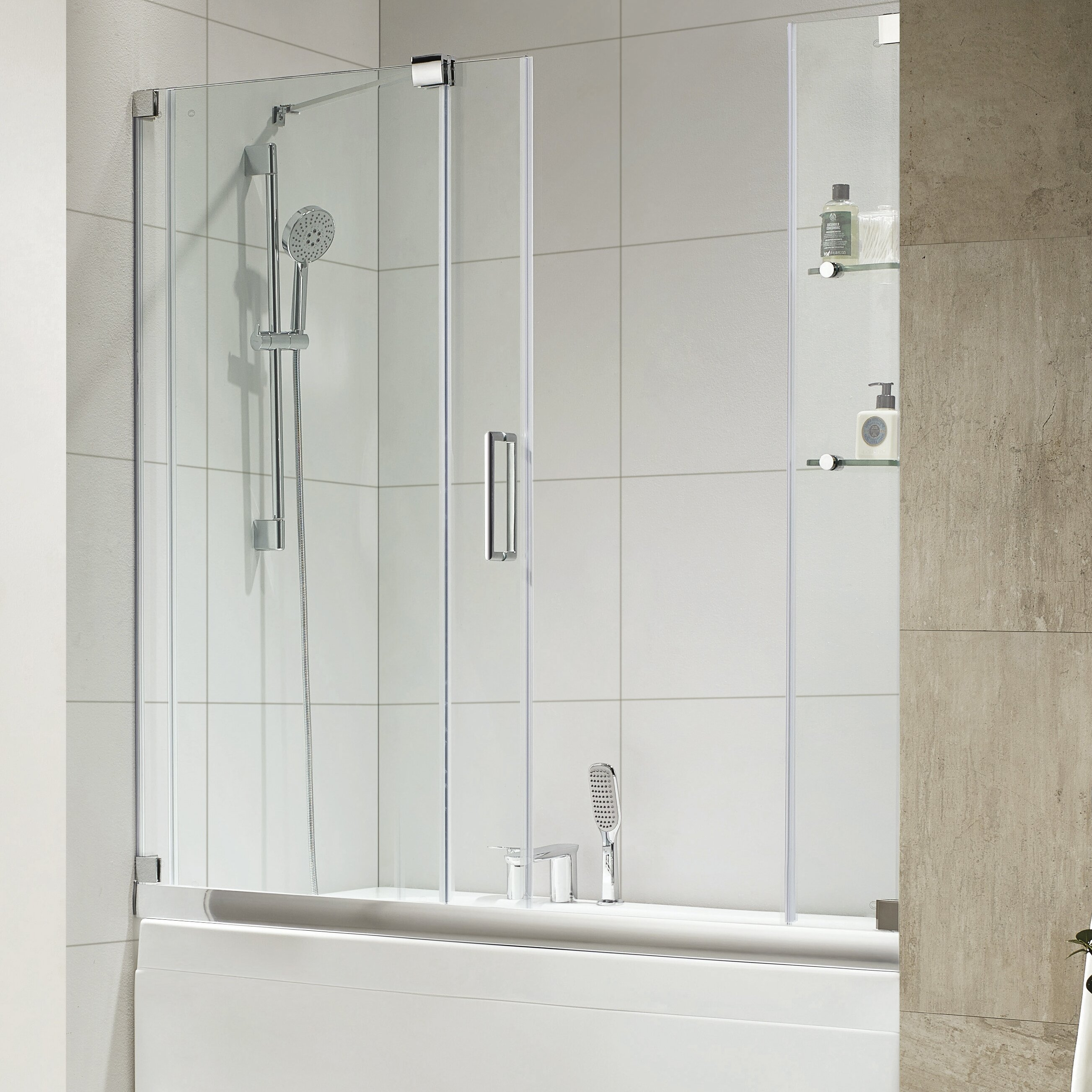 Frameless sliding tub doors -  Door Wet Republic Oasis E 58 X 60 Single Sliding Frameless Tub