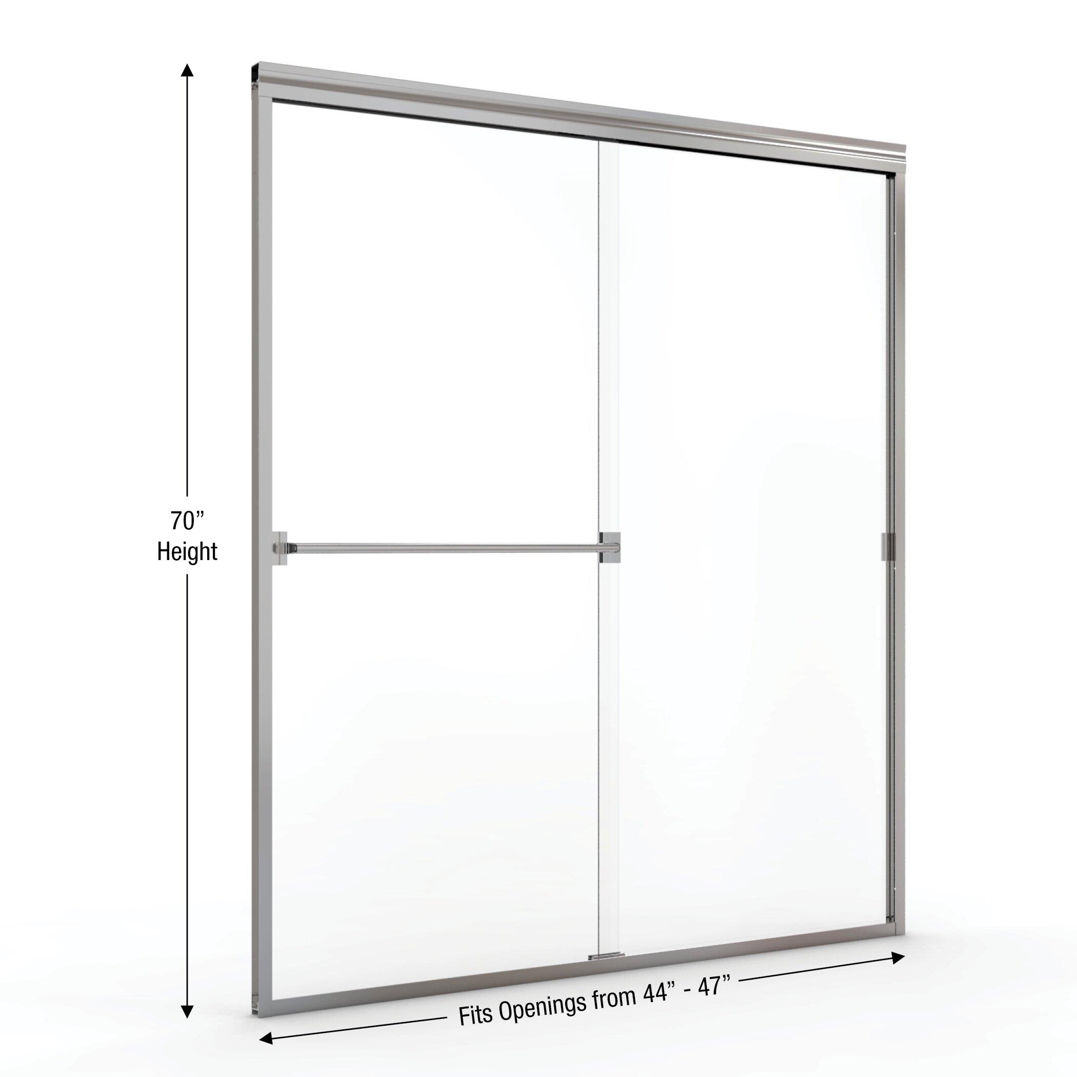 70 quot x 47 quot frameless bypass sliding shower door amp reviews wayfair