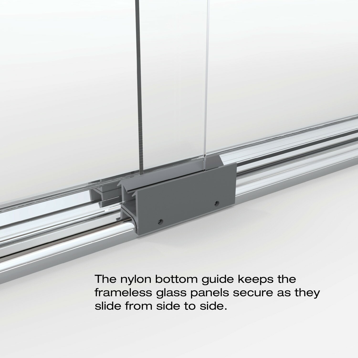 How to replace shower door bottom guide - Sliding Shower Door Bottom Guide Replacement Basco Classic 65 5 Quot X 47 Quot Frameless
