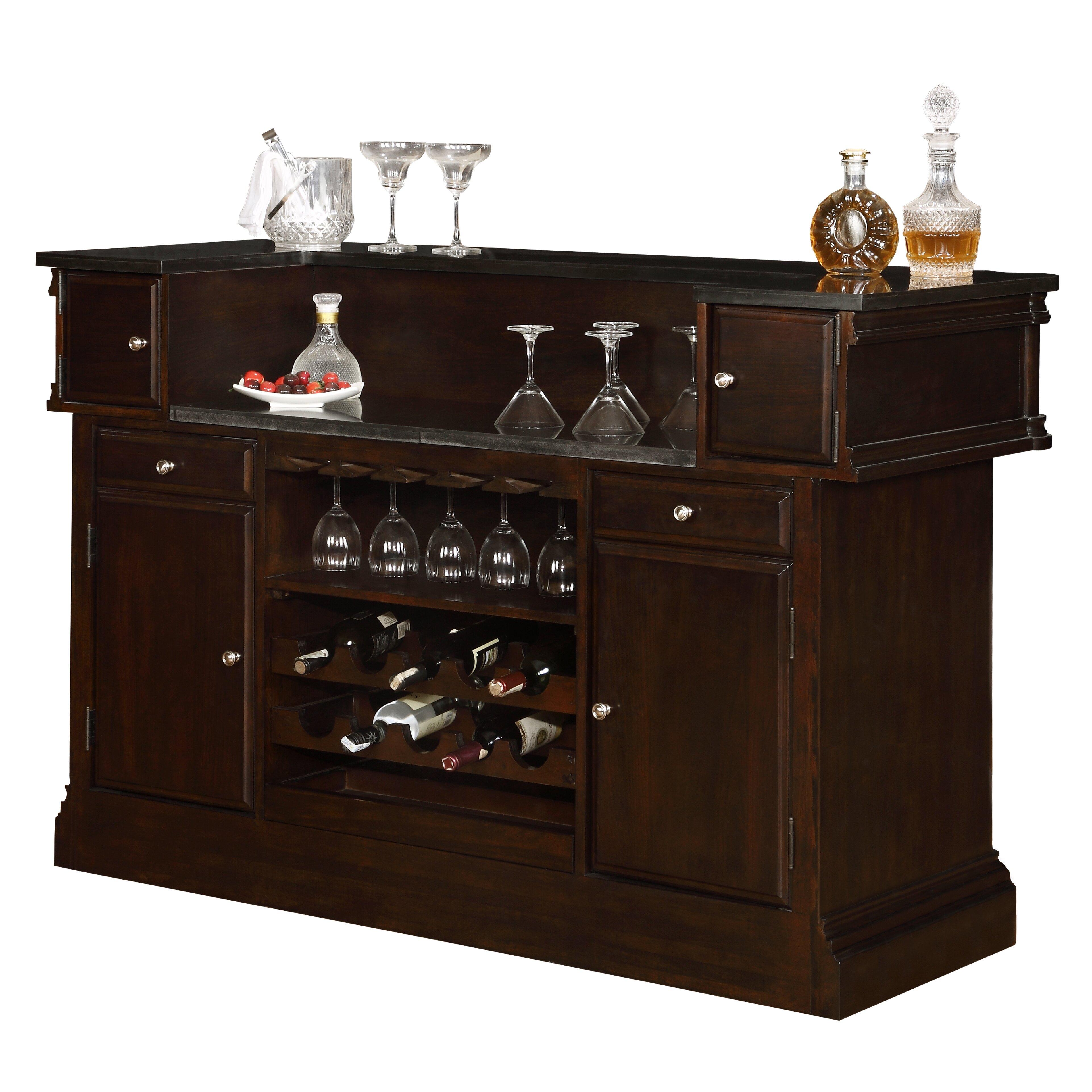 Astoria Grand Balmers Bar Set With Wine Storage Wayfair Ca