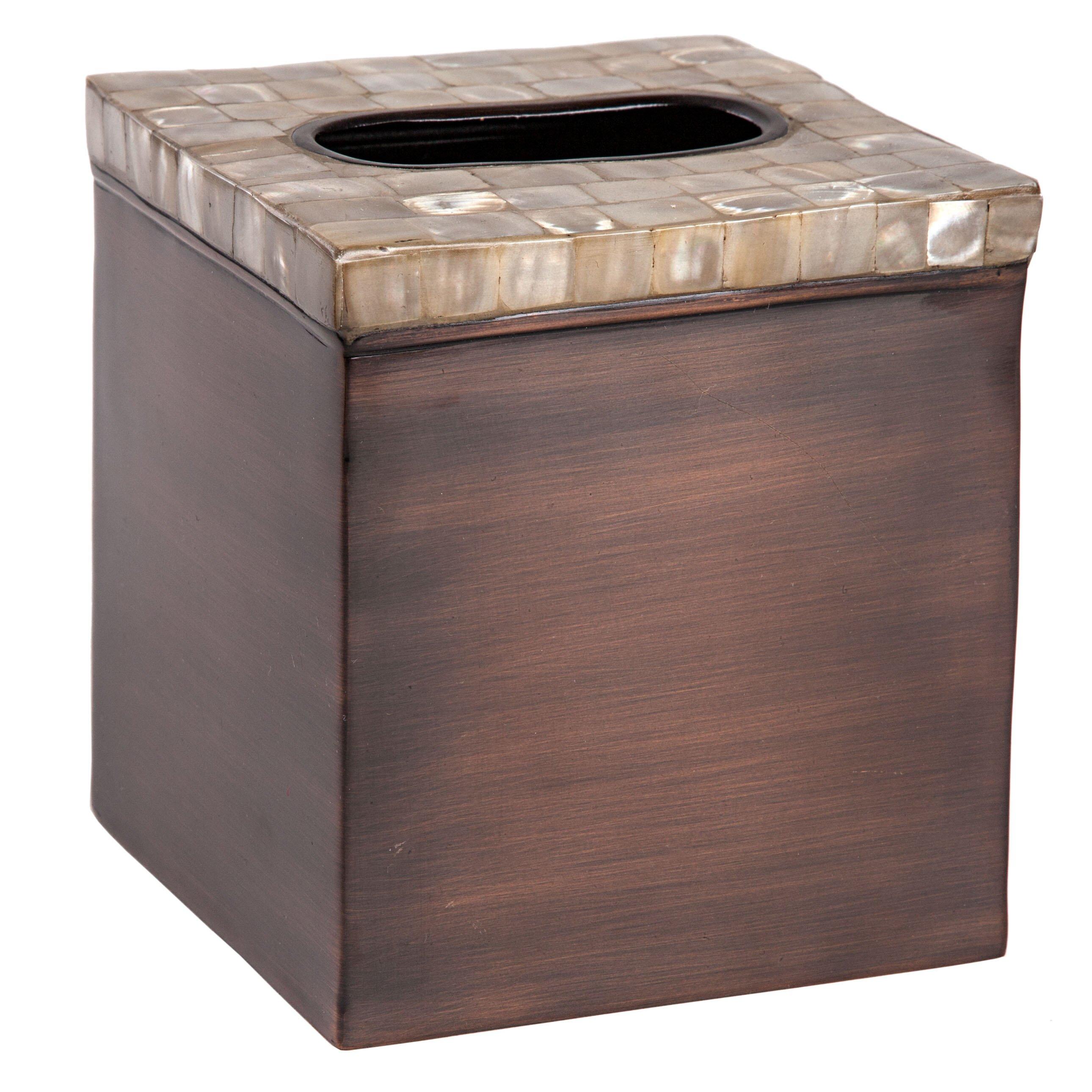 Maroon Bathroom Accessories Paradigm Trends Opal Copper 7 Piece Bathroom Accessory Set