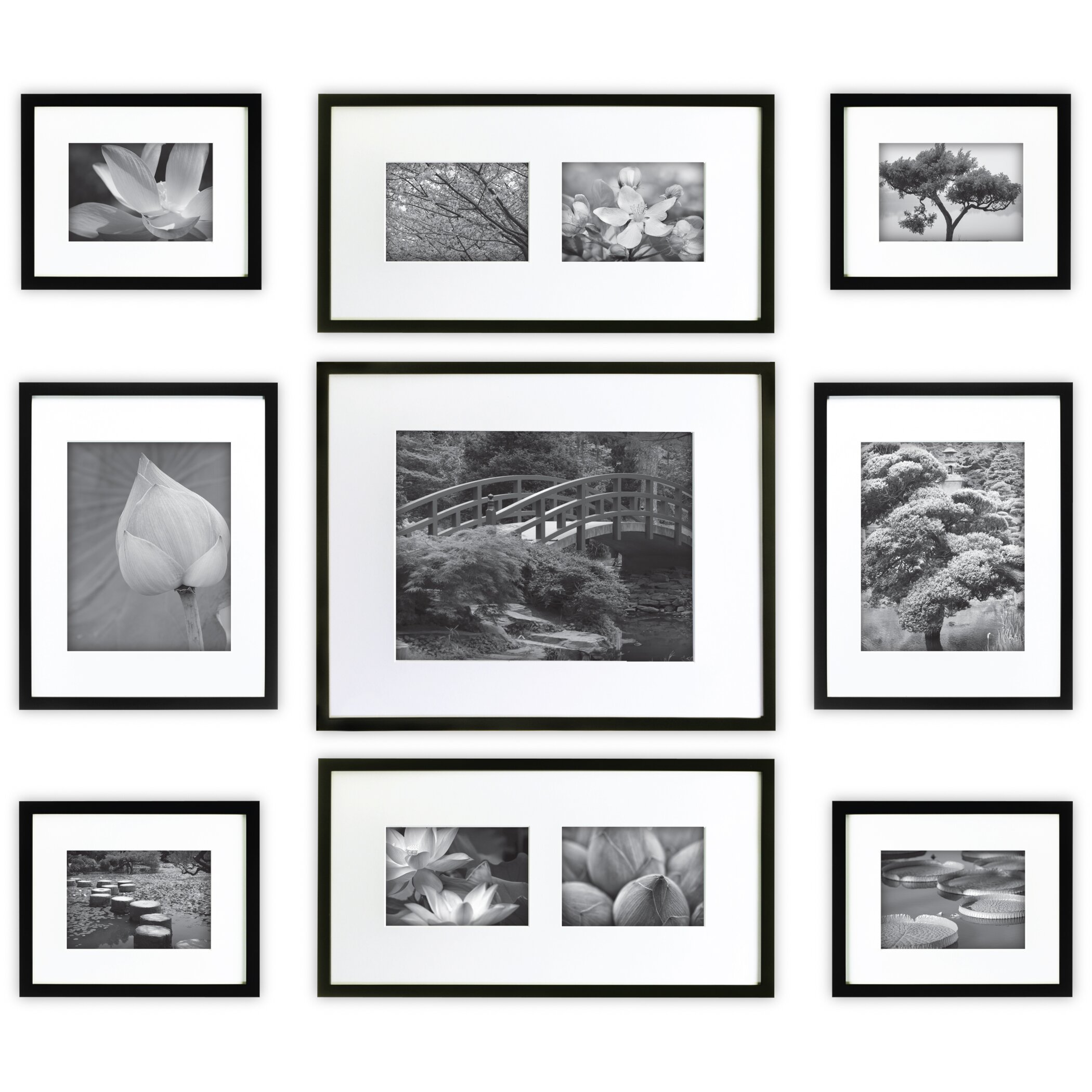 nielsen bainbridge 9 piece wood picture frame set