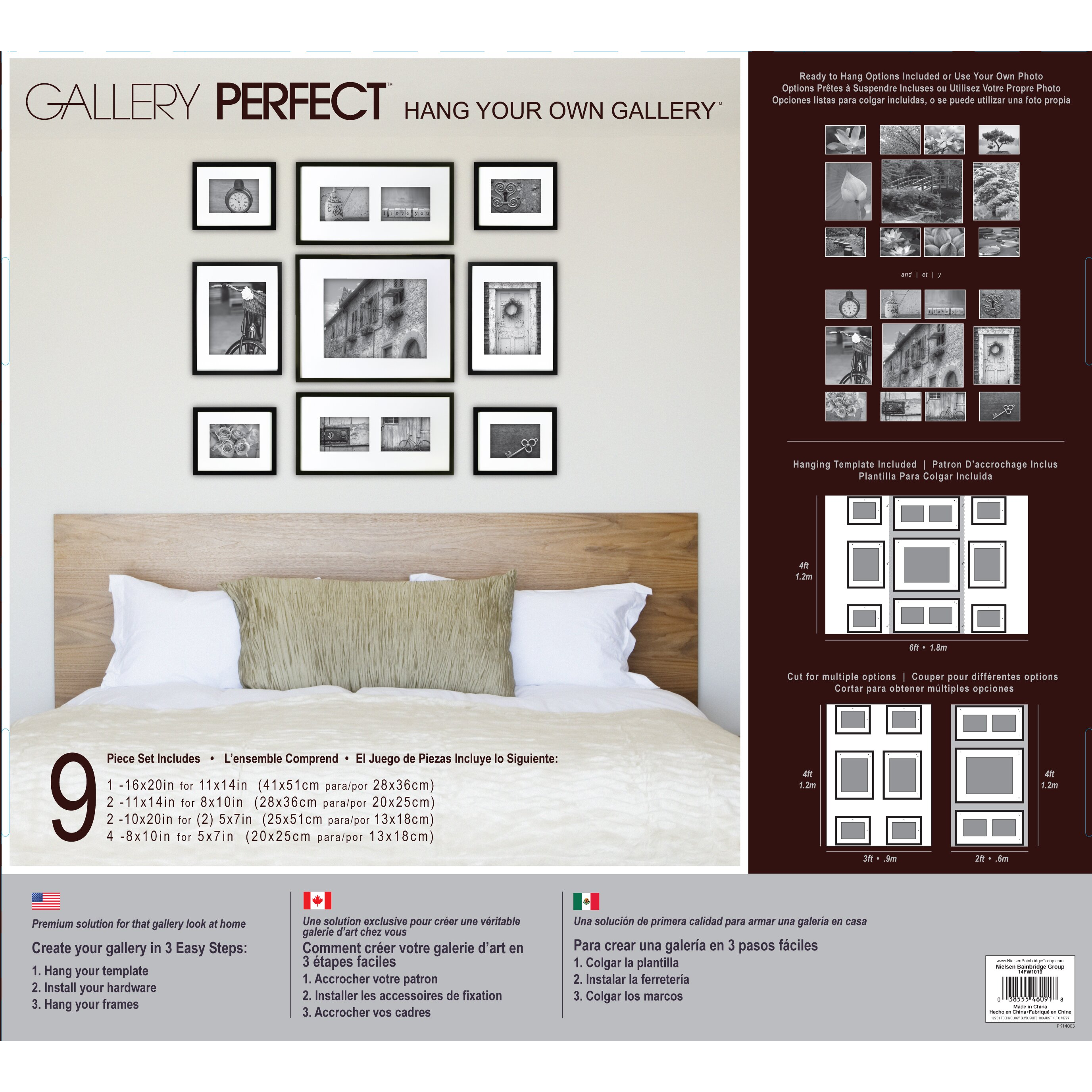 nielsen bainbridge norma 9 piece wood picture frame set