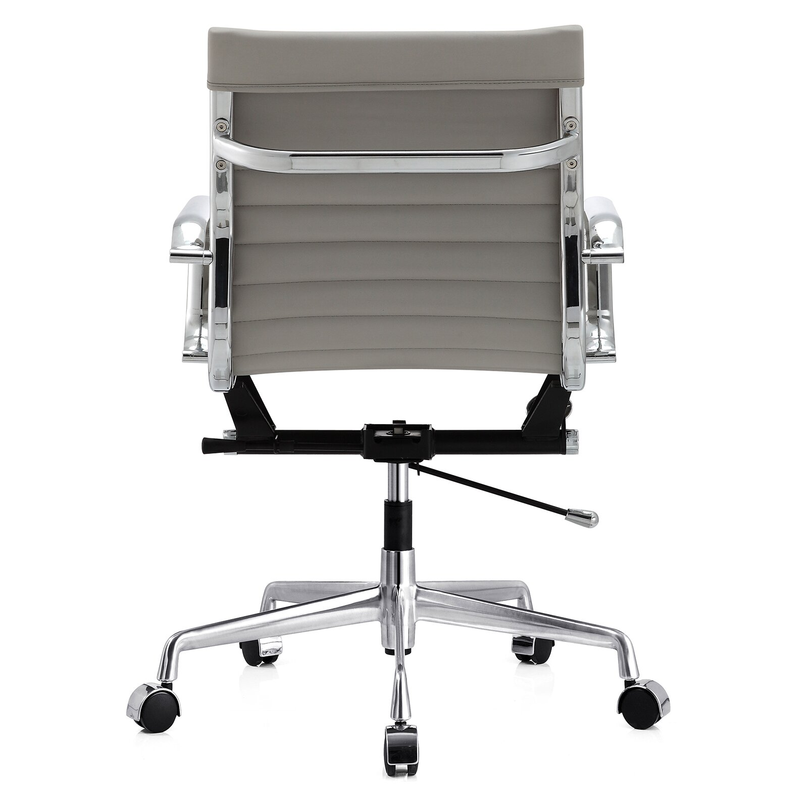 Black and white office chair - Meelano Leather Desk Chair
