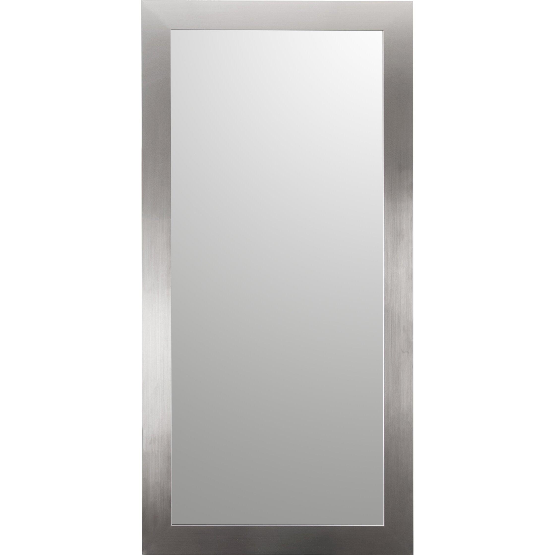 Brandtworksllc full body floor mirror reviews wayfair for Glass floor mirror