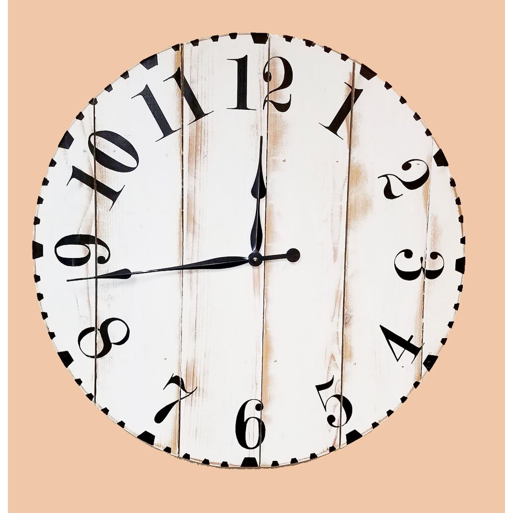 Brandtworksllc oversized modern distressed 36 wall clock - Oversized modern wall clock ...