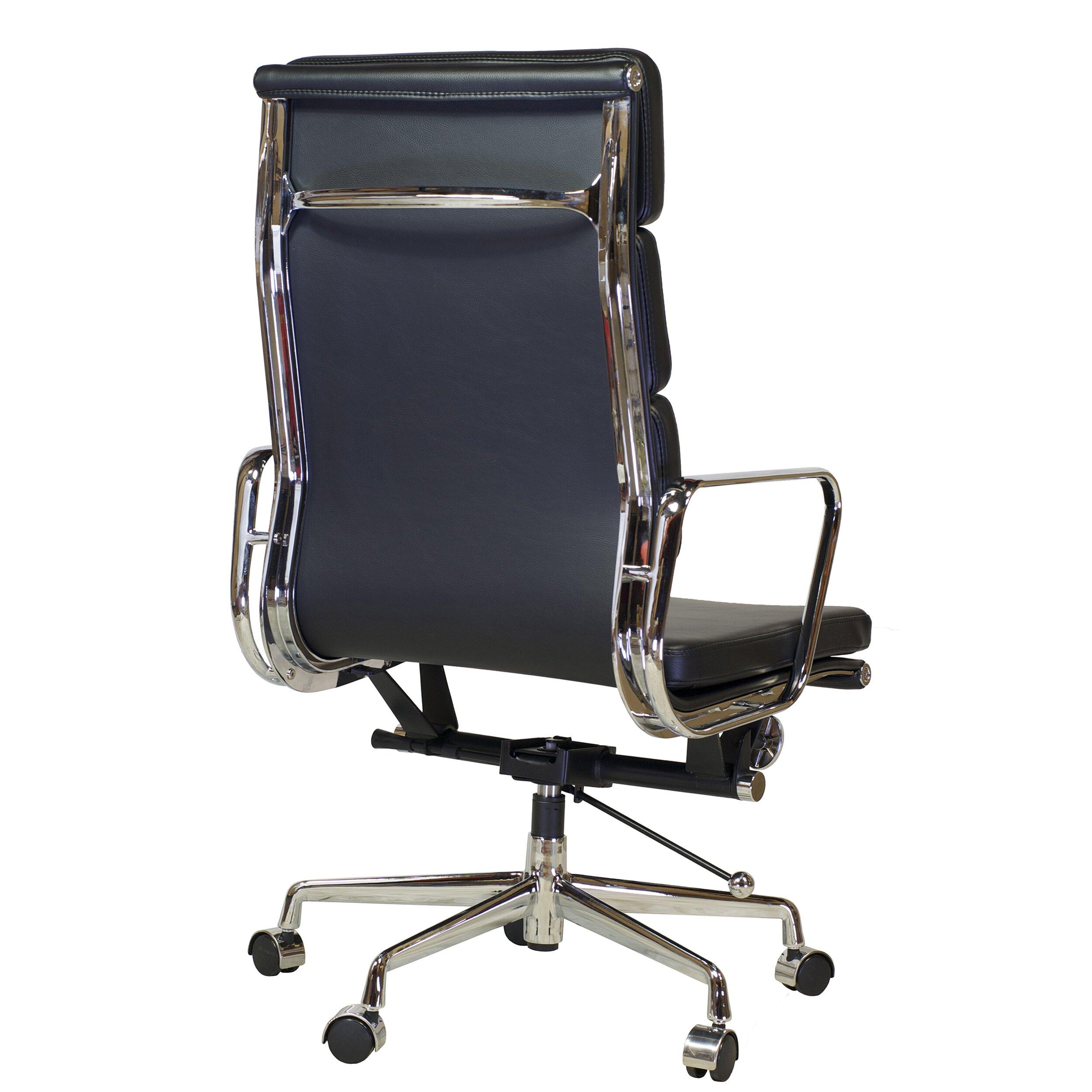 Midcentury Desk Chair Design Tree Home Mid Century Leather Desk Chair  Wayfair
