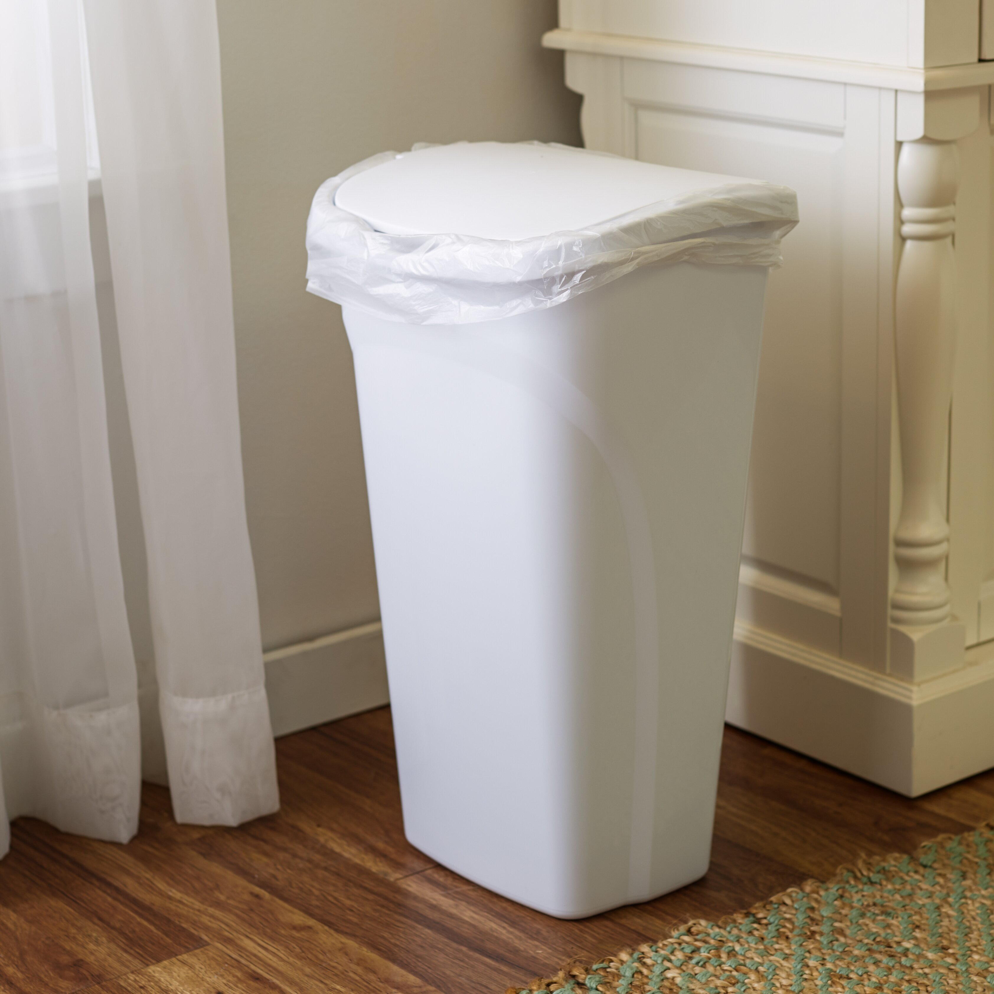 wayfair basics wayfair basics 10 gal dual swing trash can reviews. Black Bedroom Furniture Sets. Home Design Ideas