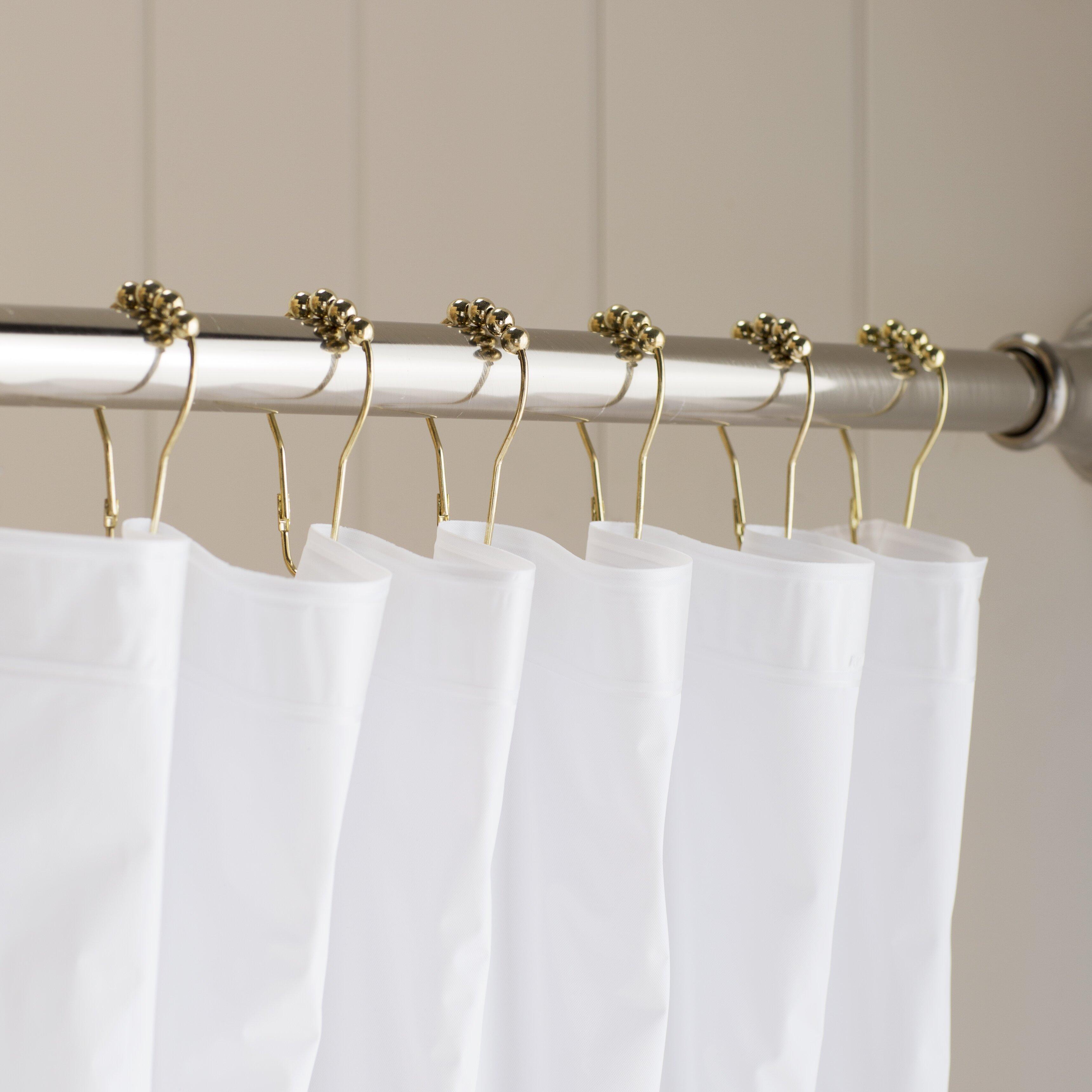Rhinestone shower curtain hooks - Rhinestone Shower Curtain Hooks Shower Curtain Hooks Wayfair Basics Gavin Shower Curtain Hooks